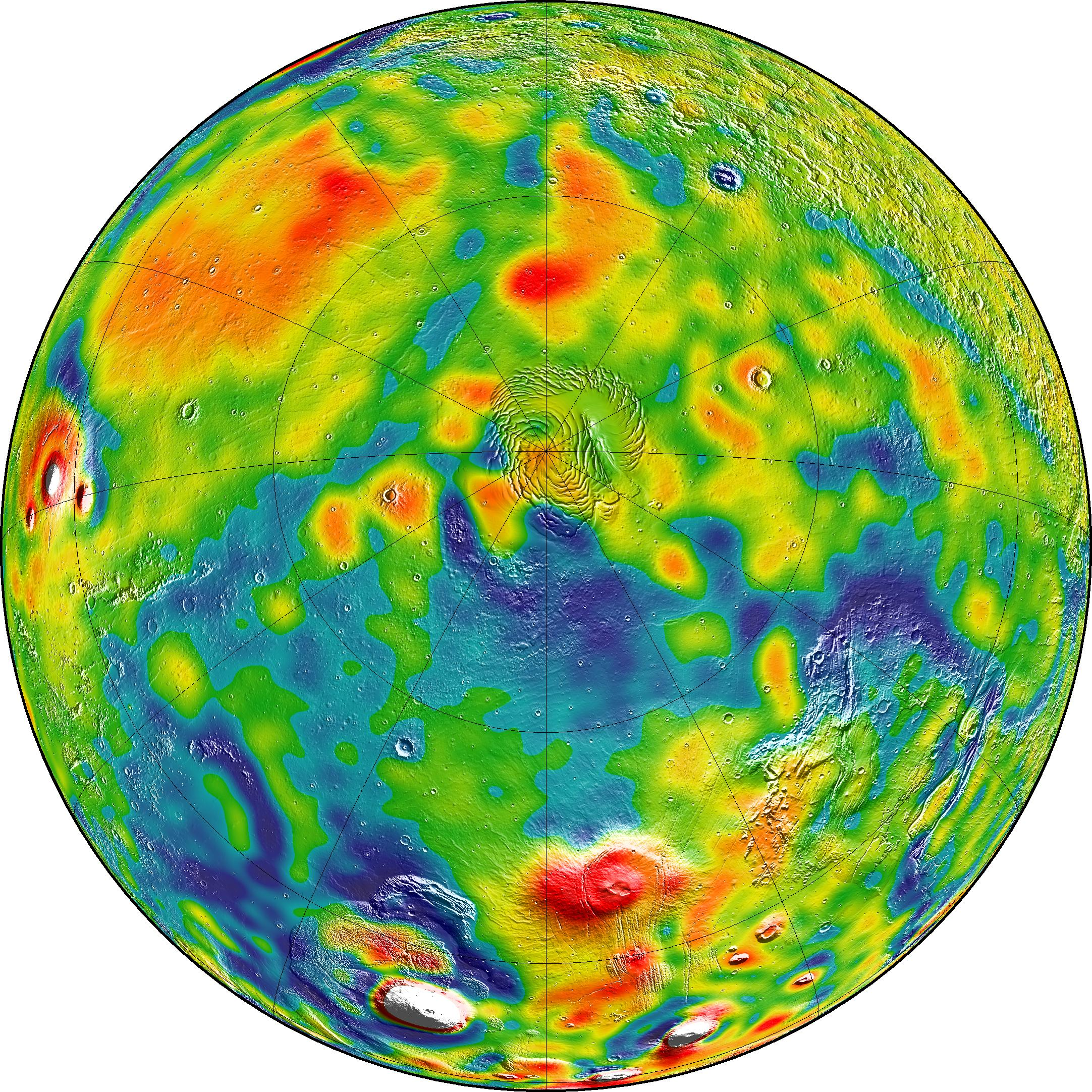 New Mars Gravity Map