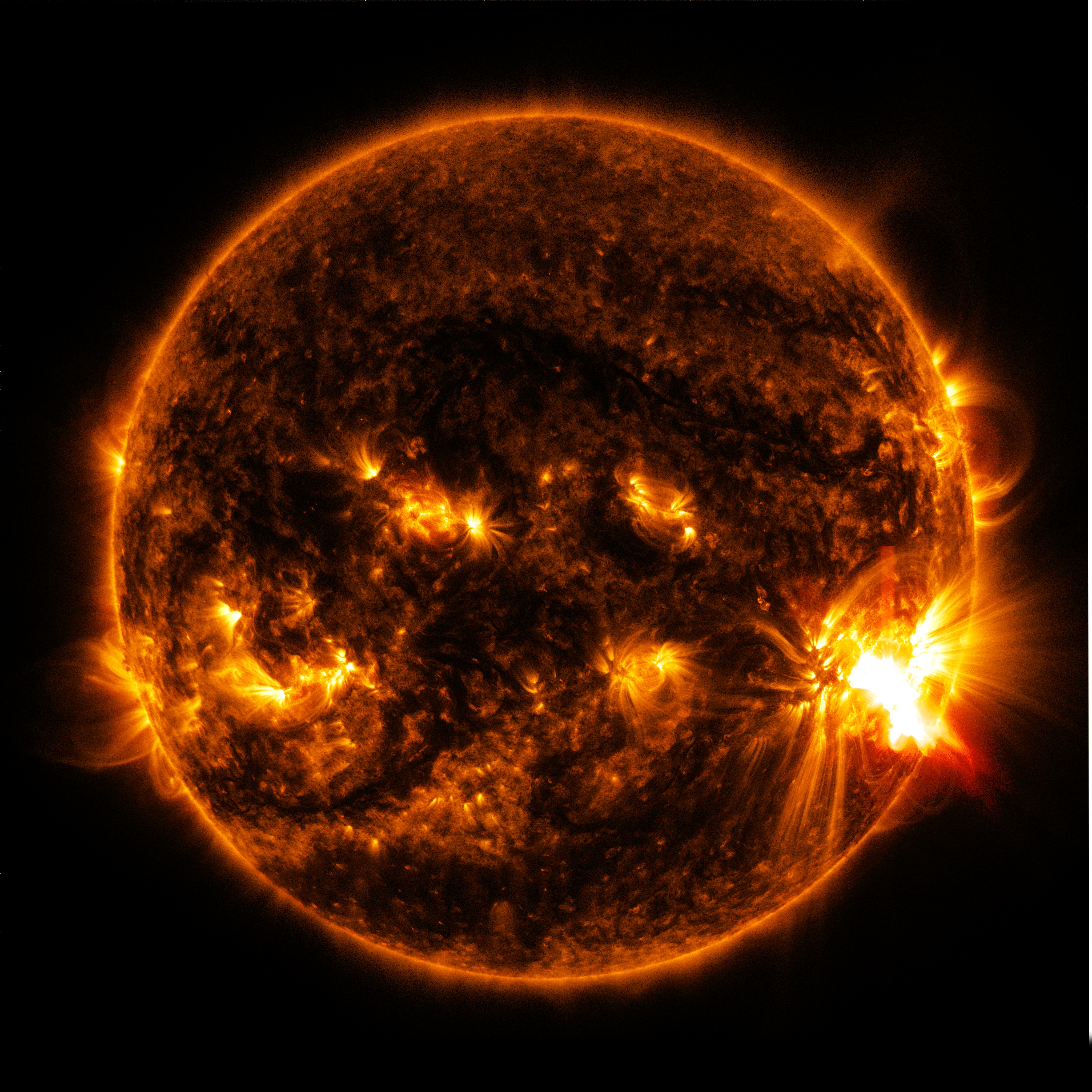 Sun From Space: NASA's SDO Observes More Flares Erupting From Giant