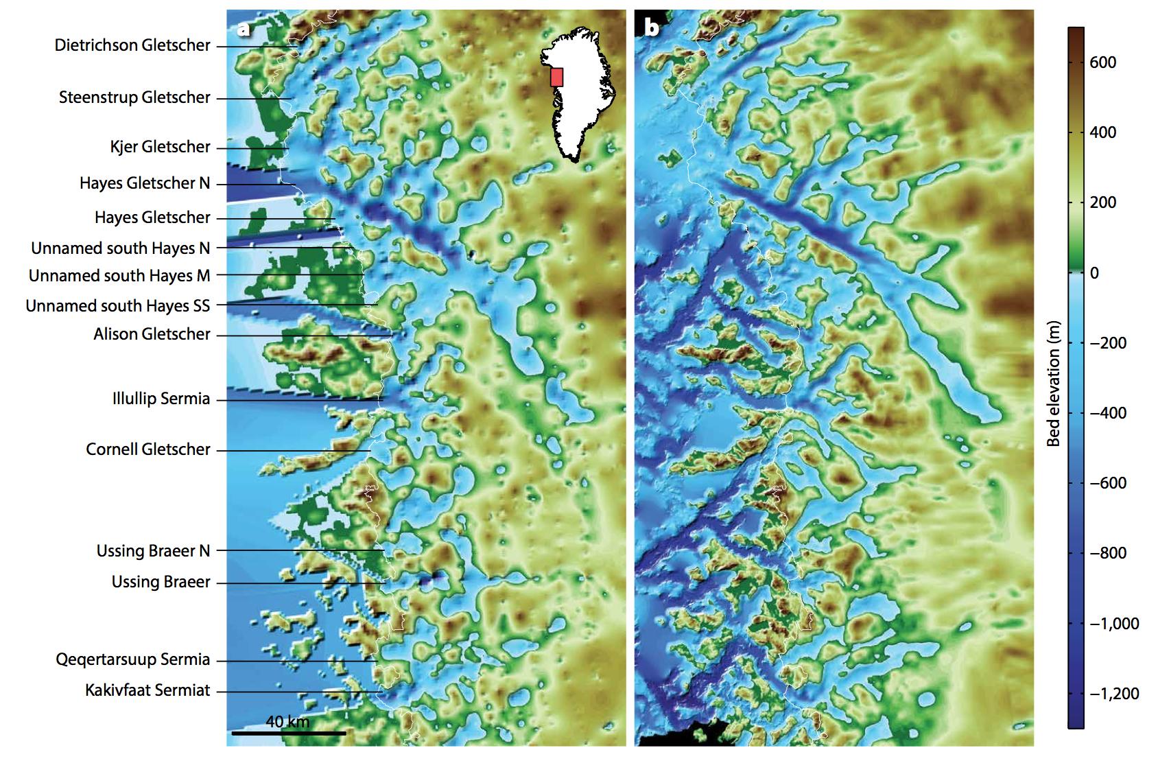 Nasa S Omg Mission Maps Sea Floor Depth Off Greenland S Coast Nasa