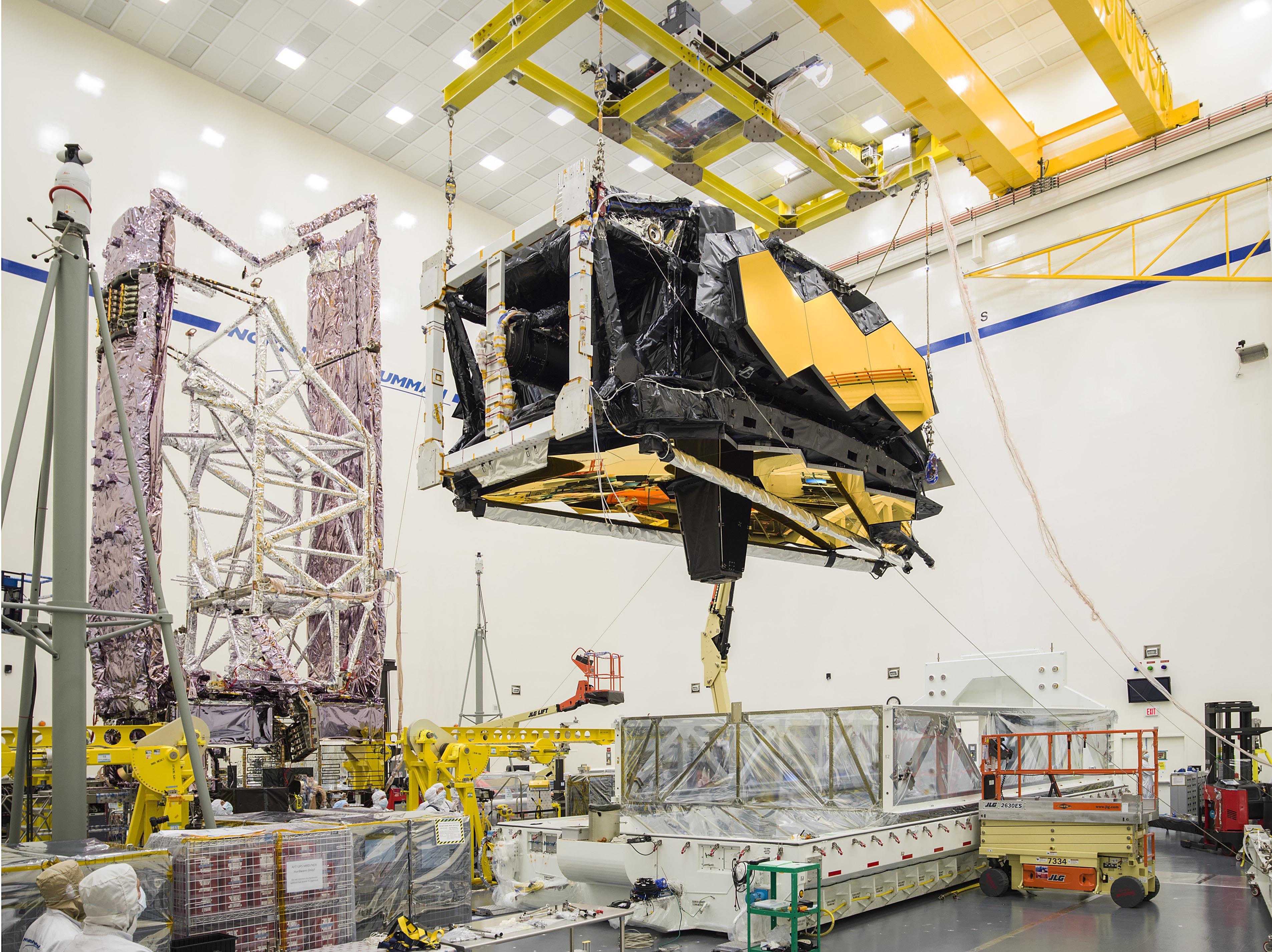 First image of JWST's OTIS after arrival at Northrop Grumman
