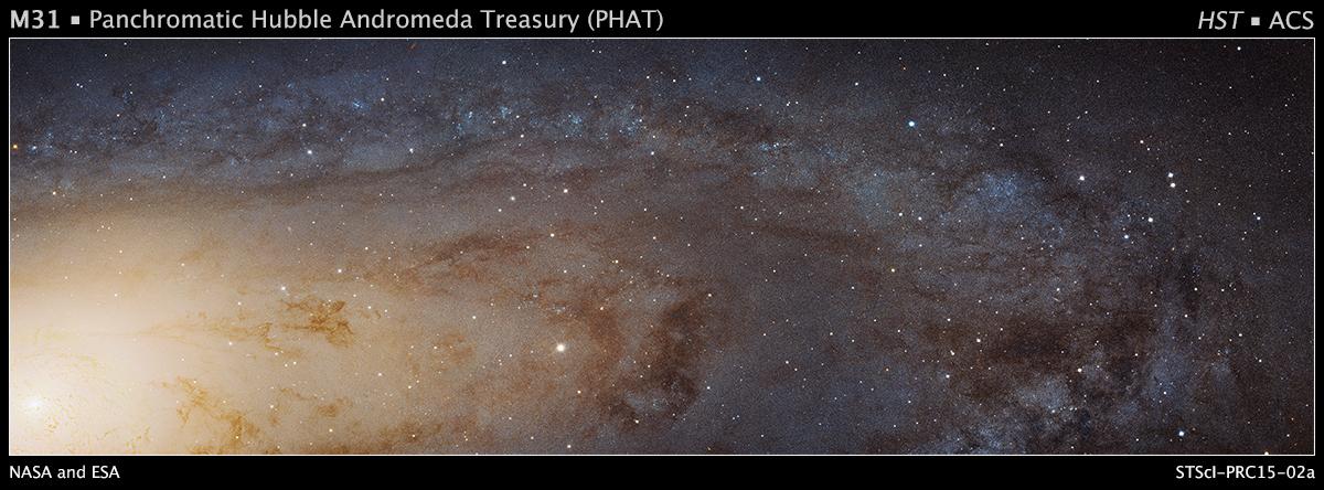 Foto © NASA, ESA, J. Dalcanton, B.F. Williams, and L.C. Johnson (University of Washington), the PHAT team, and R. Gendler