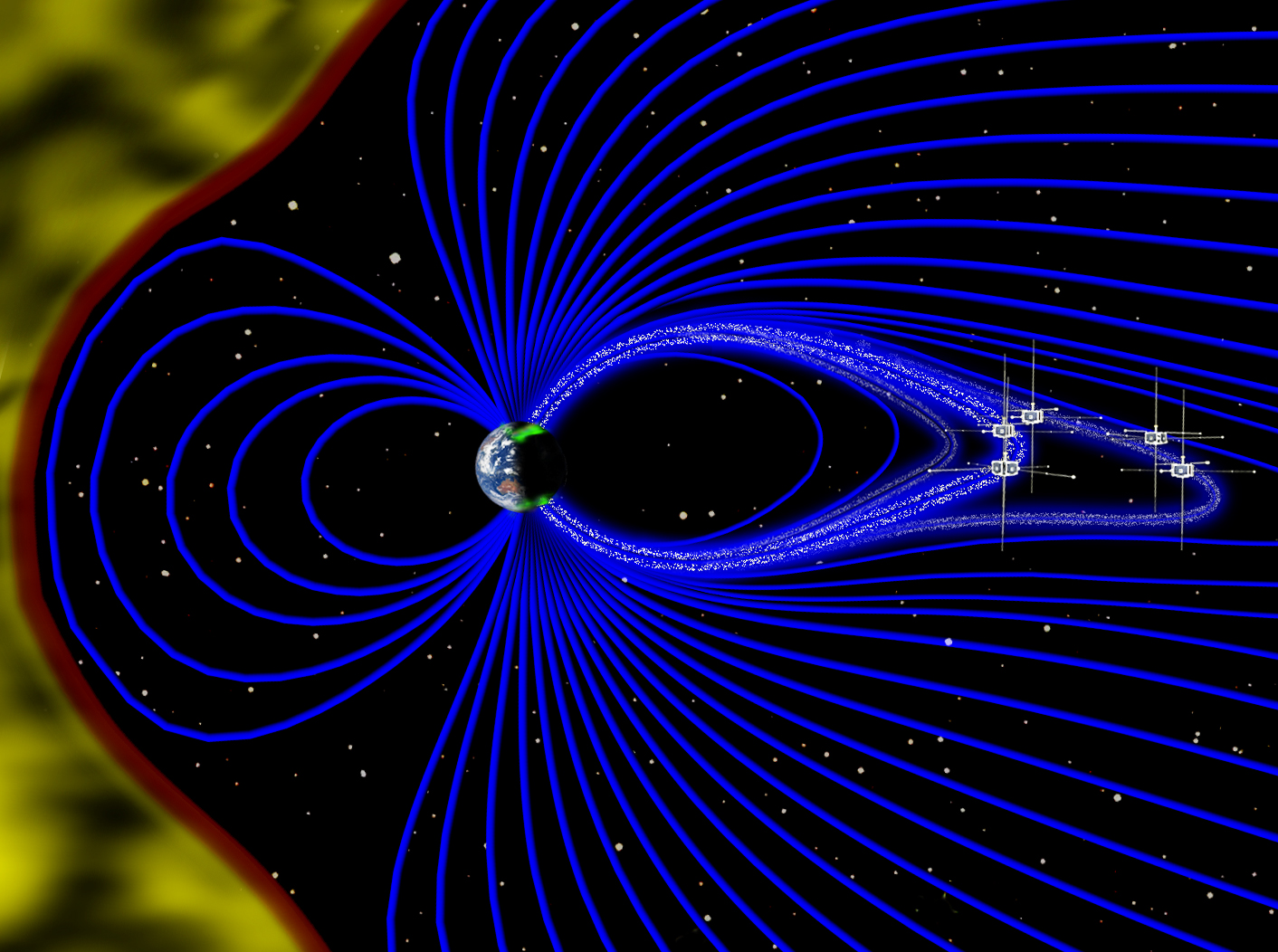The Earth39s Magnetic Field Is Responsible For Deflecting Solar Wind Inside Earth Diagram Of Interior