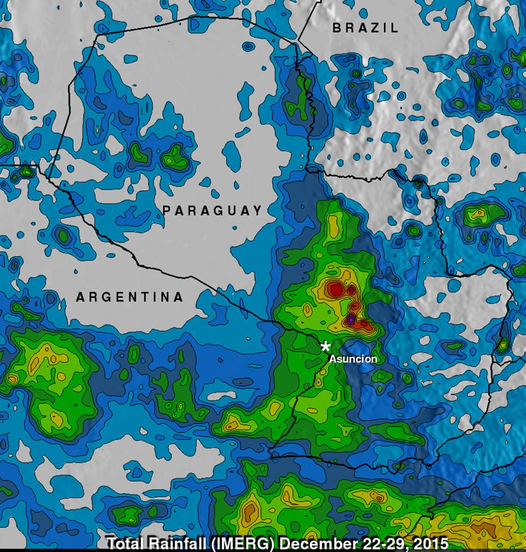 NASA Analyzes Paraguay\'s Heavy Rainfall | NASA