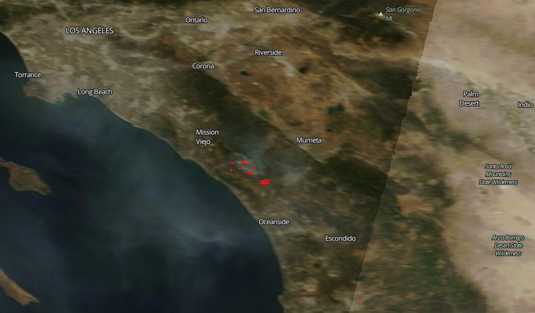 Fires On Grounds Of Camp Pendleton California Nasa