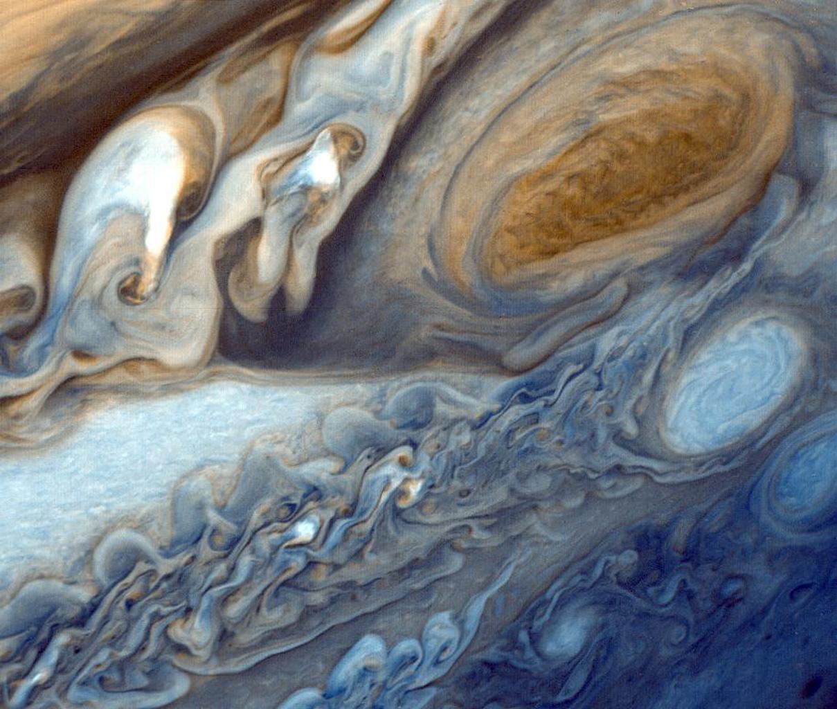 Jupiter · Closeup Of Jupiter's Red Spot