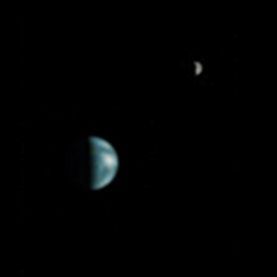The Earth and Moon from Mars   NASA
