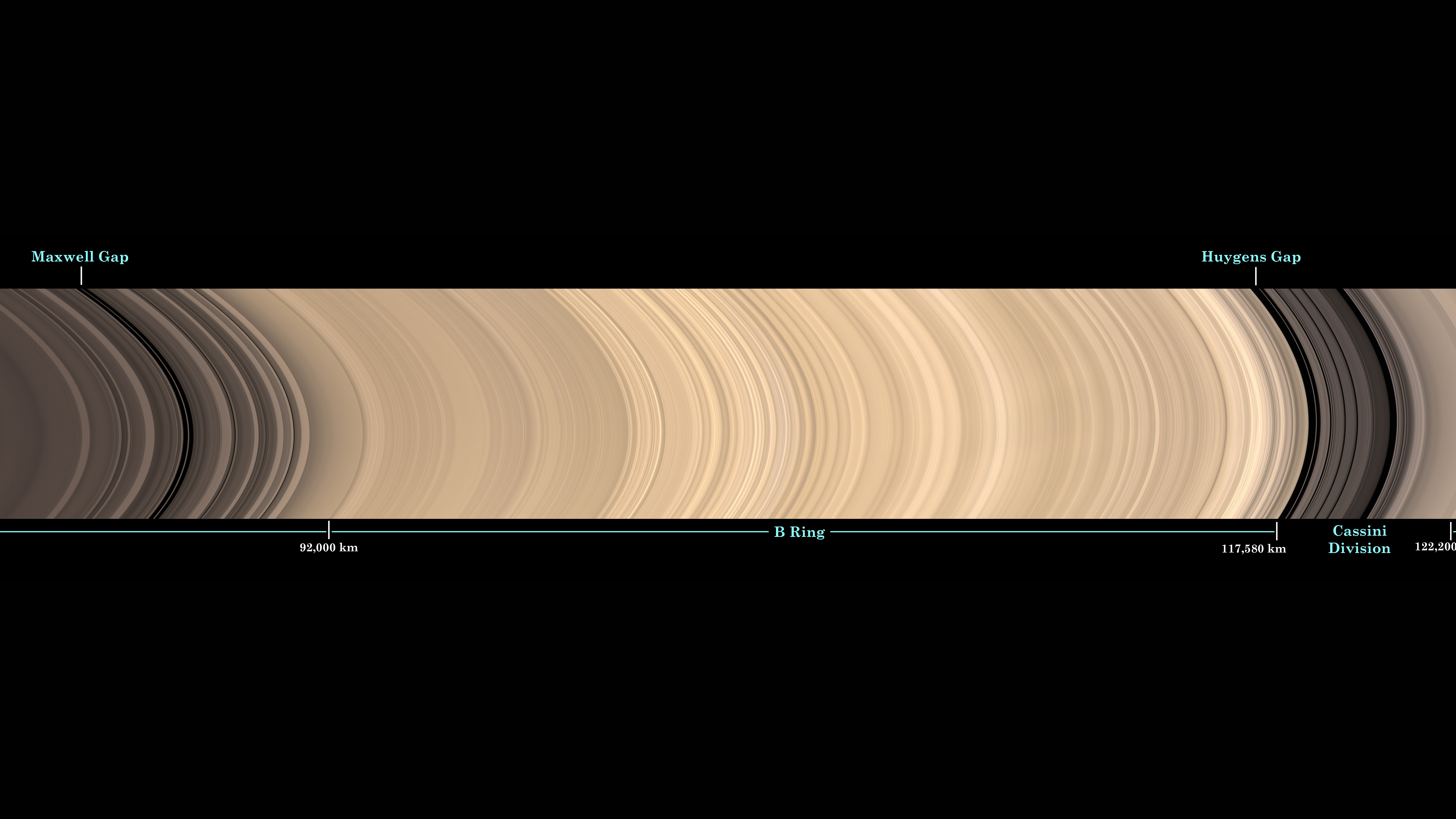 Of planet earth as a point of light between the icy rings of saturn - This Image Is Cropped From A Panoramic View Of Saturn S Main Ring System