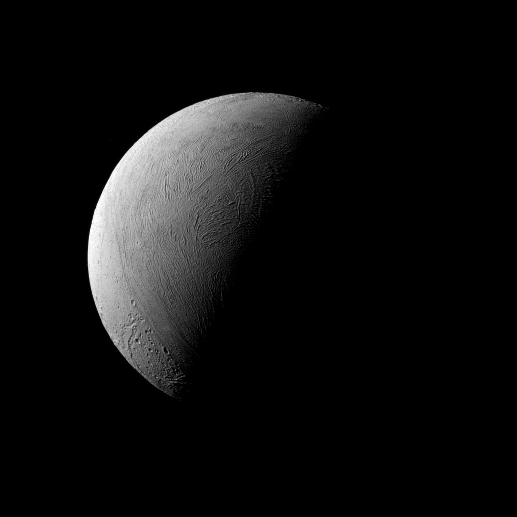 the moon enceladus of saturn Some very resilient earth microbes might be able to thrive in the hidden ocean of enceladus — the icy moon of saturn that has become a prime candidate in the search for extraterrestrial life scientists have successfully cultivated a few of these tiny organisms in the lab under the same conditions that are.