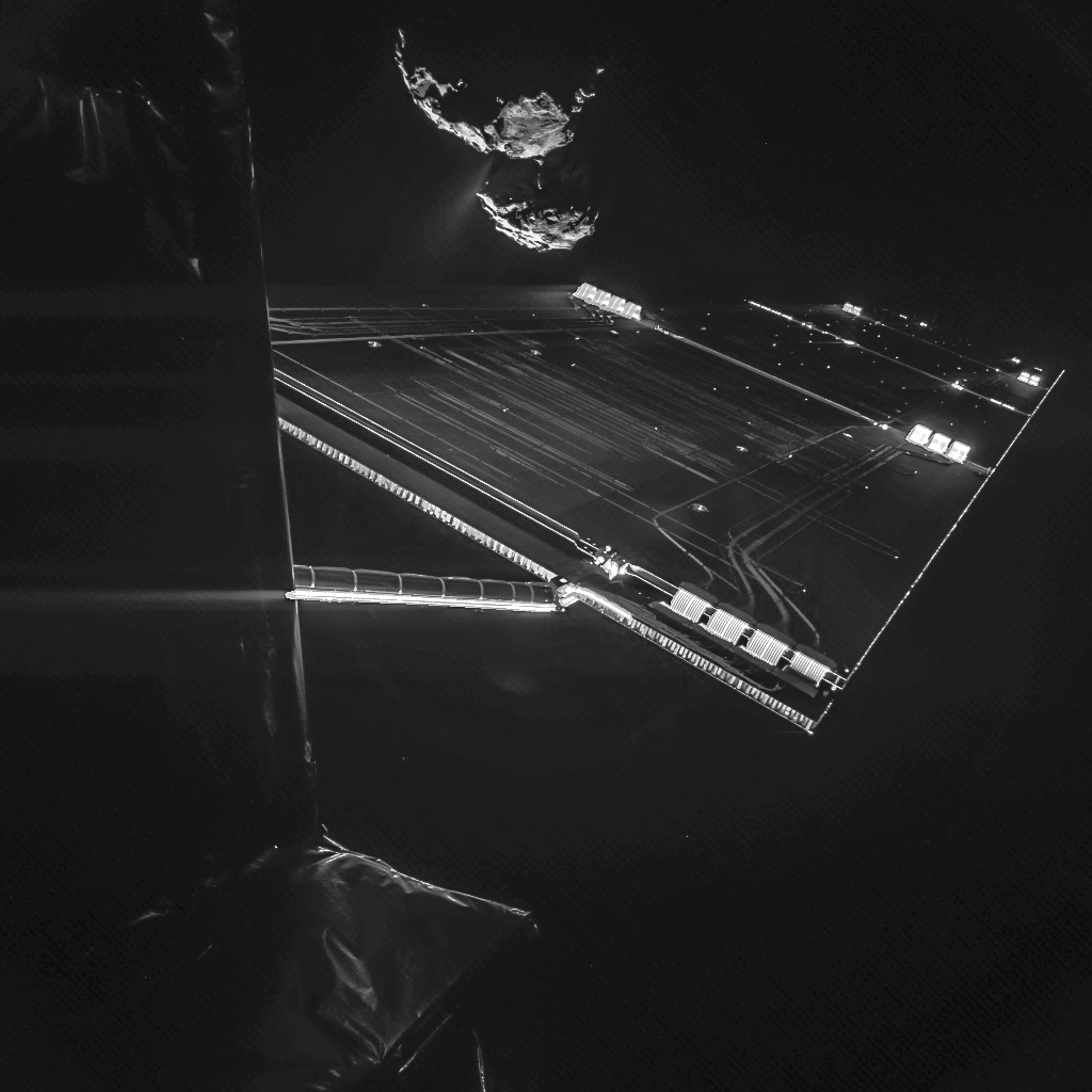 rosetta mission selfie at 10 miles nasa. Black Bedroom Furniture Sets. Home Design Ideas