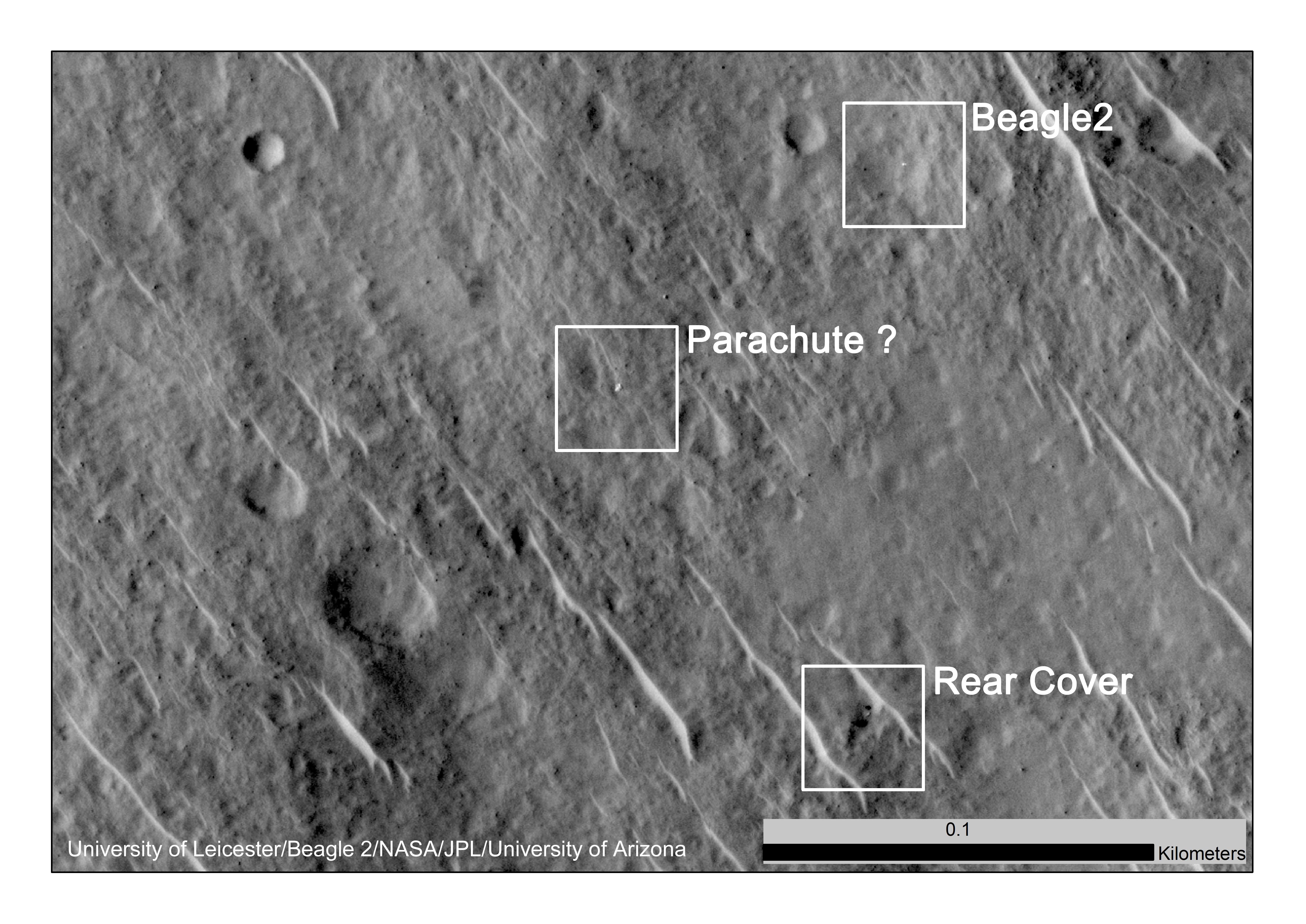 lost 2003 mars lander found by mars reconnaissance