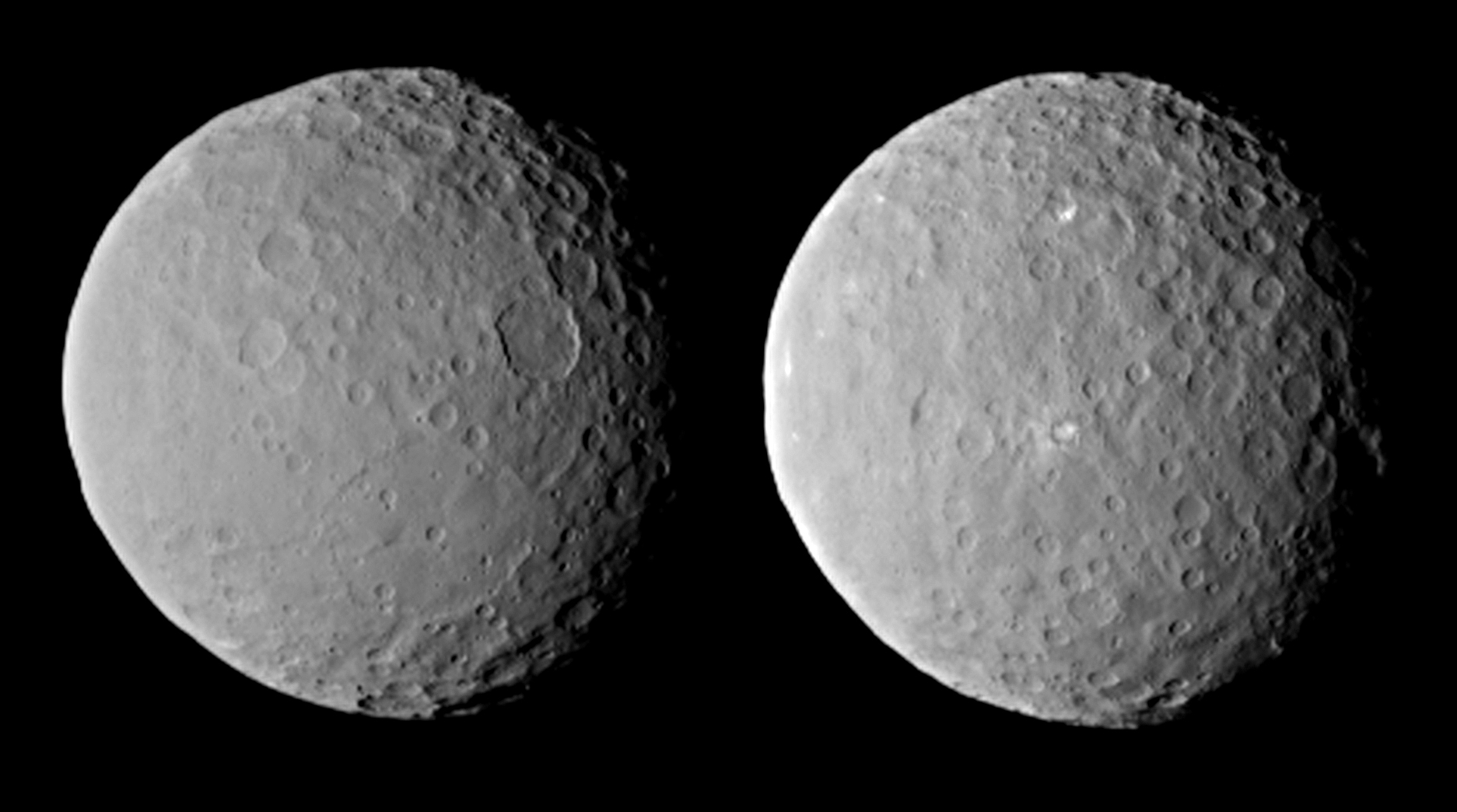 2 Views Of Ceres On Approach