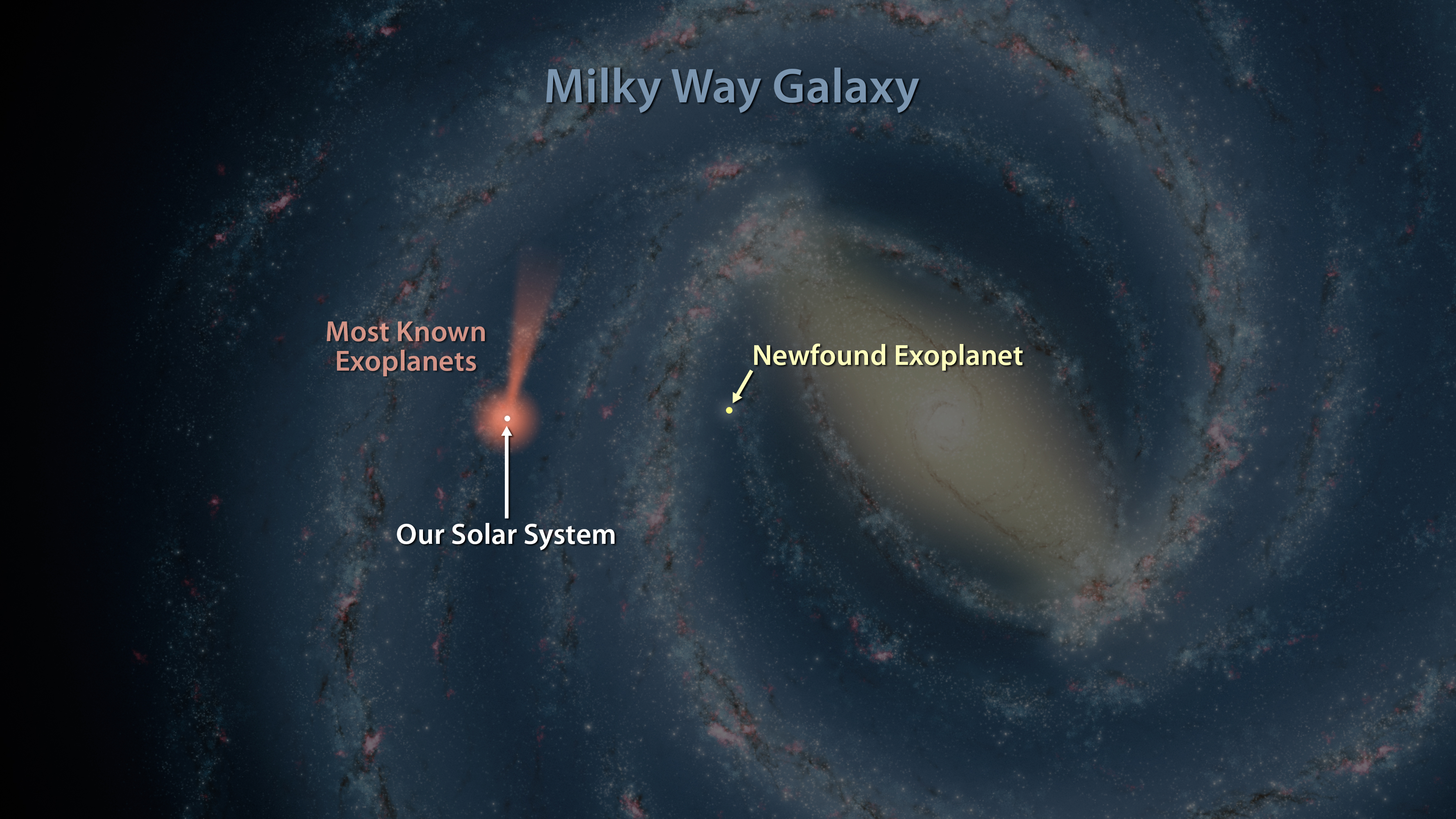 Map Of Exoplanets Found In Our Galaxy NASA - Space map