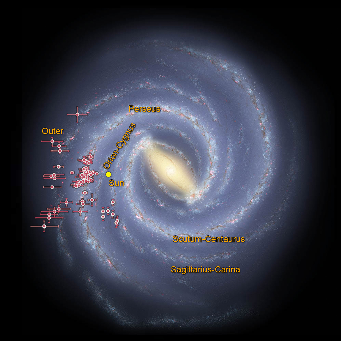 Map Of The Milky Way Charting the Milky Way From the Inside Out | NASA