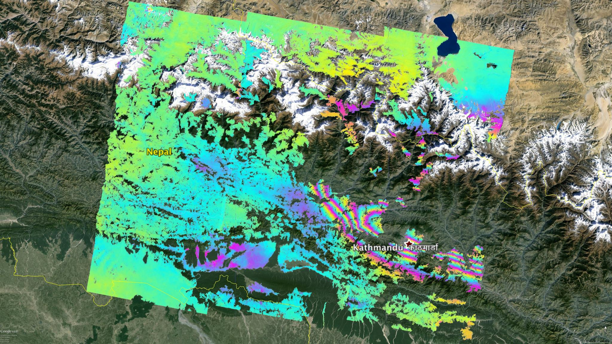 NASA Damage Map To Assist With  Nepal Quake Disaster Response - Washington dc earthquake map