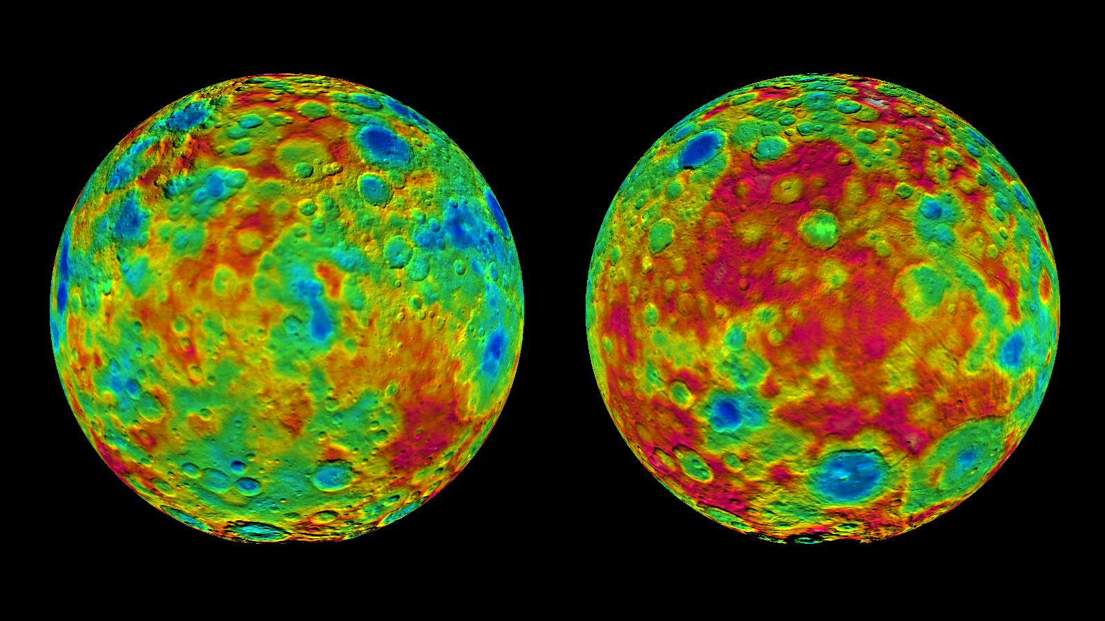 Topographic Maps Of Ceres East And West Hemispheres NASA - Nasa topographic map