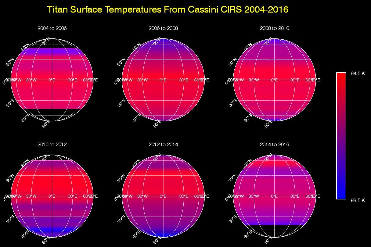 Titan Temperature Lag Maps Amp Animation Nasa
