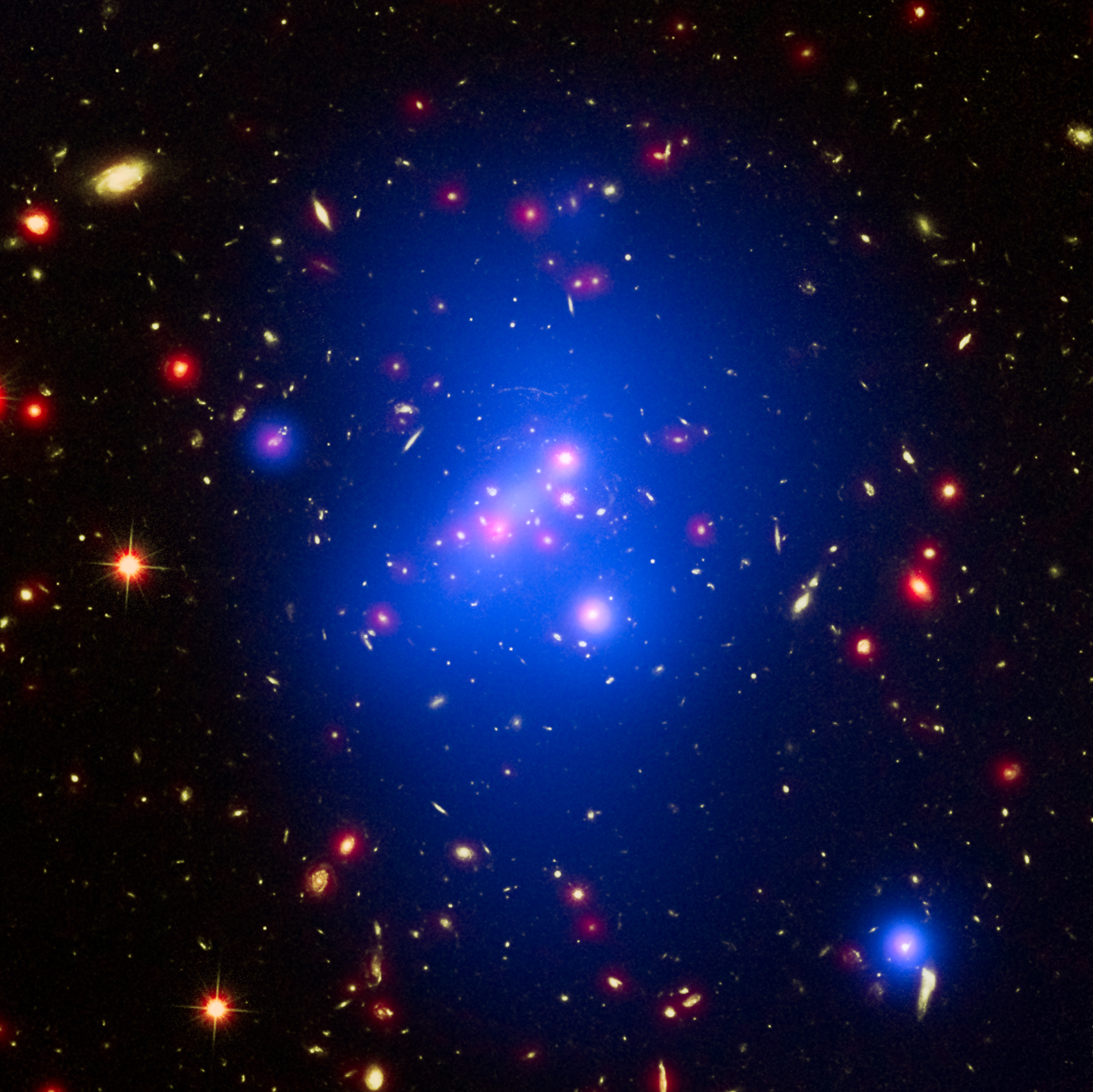 telescopes weigh massive star cluster create sky map nasa