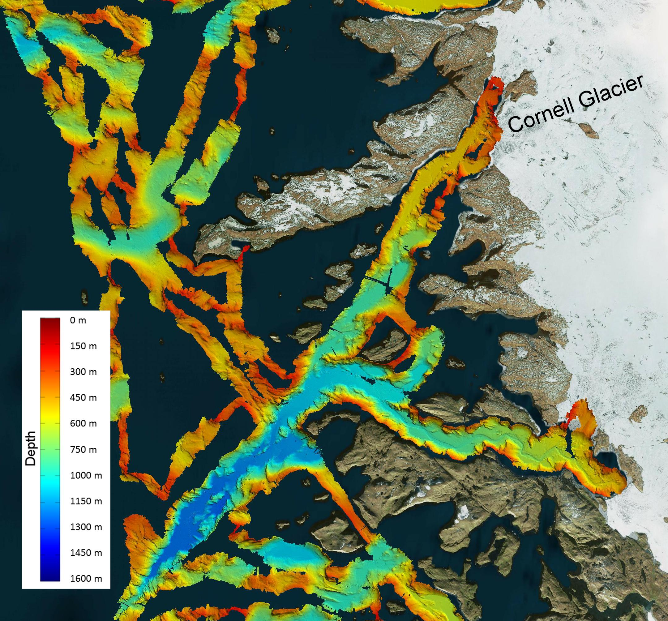 nasas omg mission maps sea floor depth off greenlands coast nasa