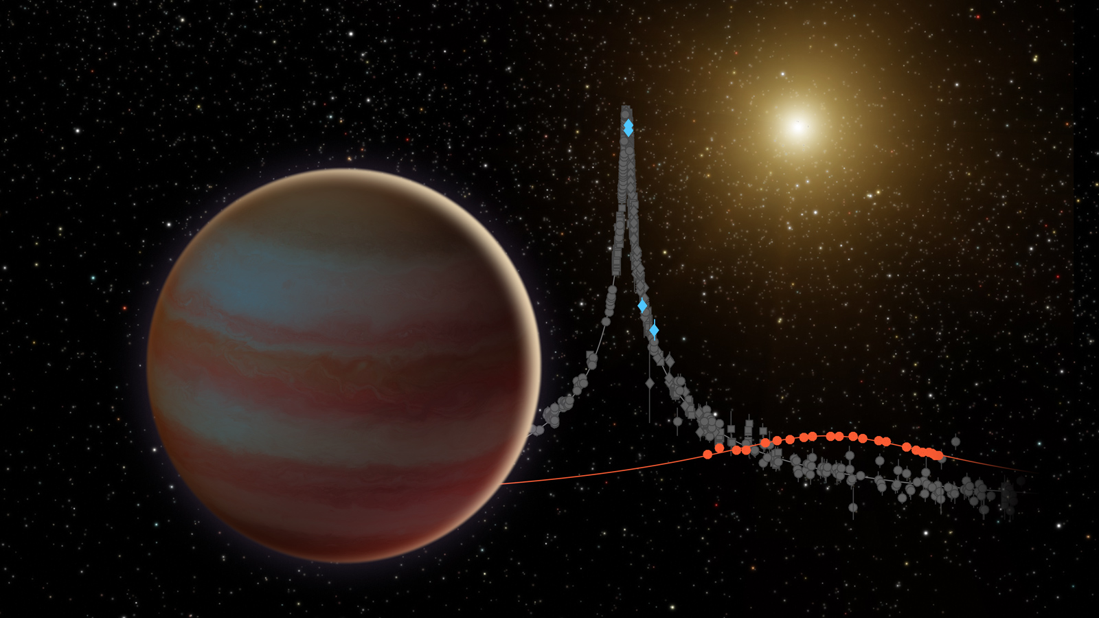 Nasa space telescopes pinpoint elusive brown dwarf nasa illustration depicts a newly discovered brown dwarf ccuart Choice Image