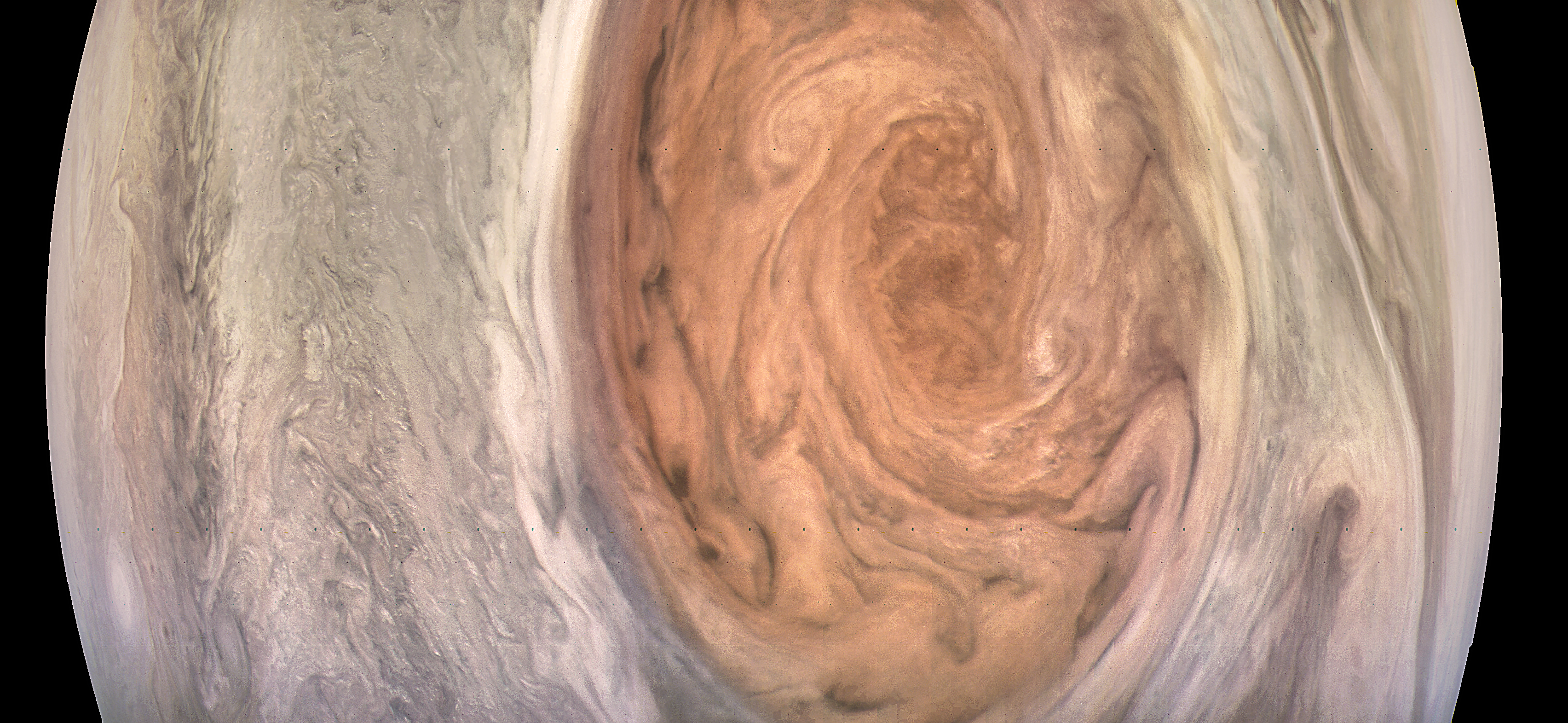 jupiter u0027s great red spot likely a massive heat source nasa