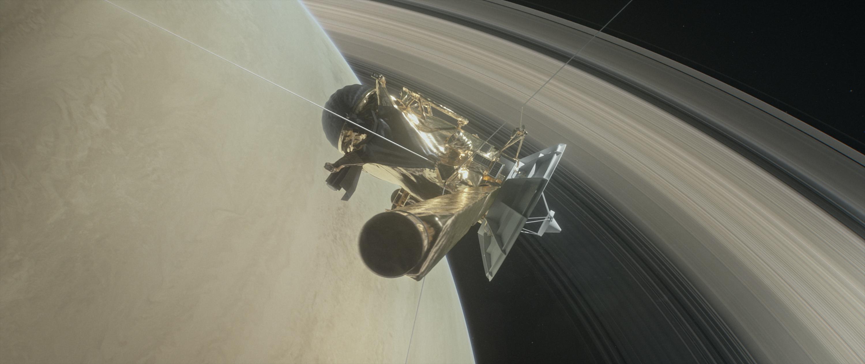 Illustration of Cassini Spacecraft's Grand Finale Dive