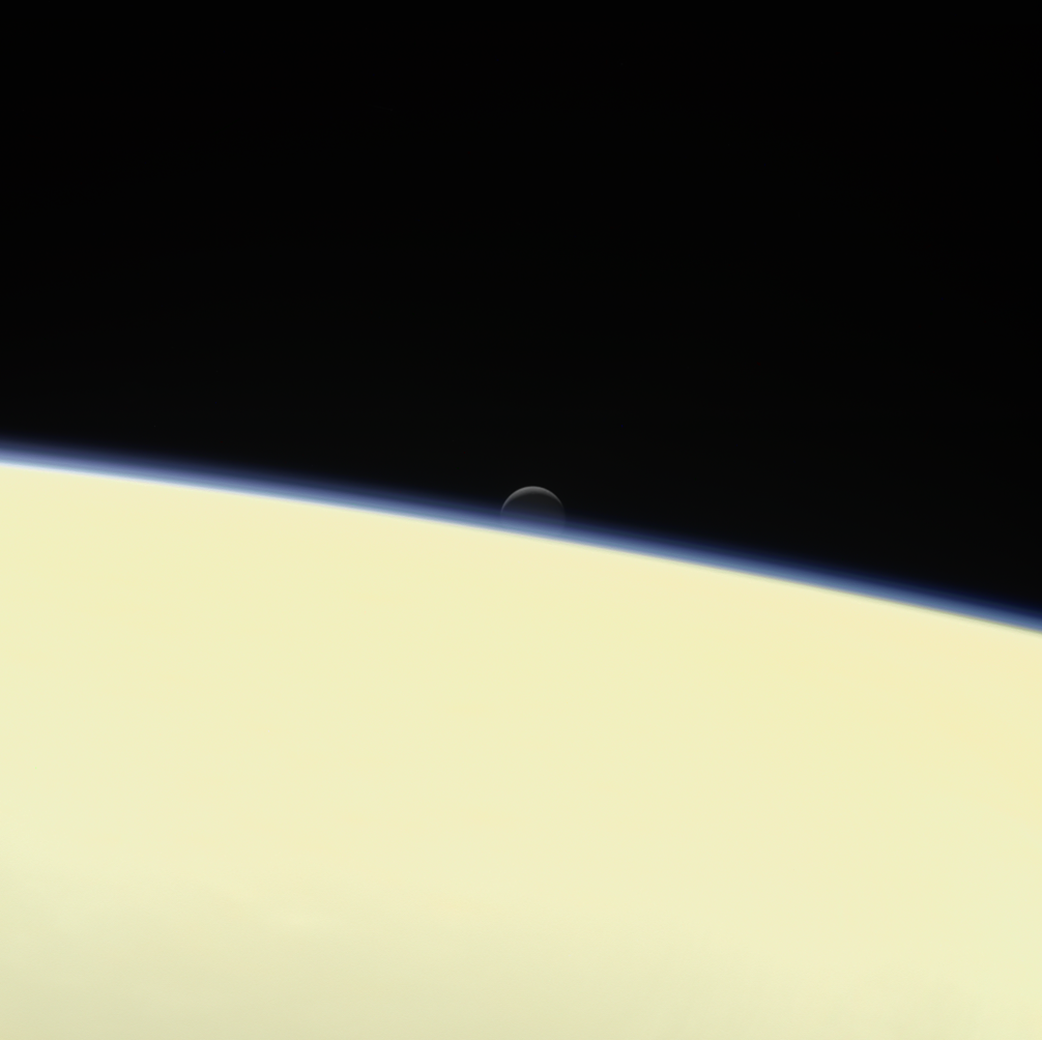 Your chosen color or size is sold out see below for eventual - Cassini Moon Enceladus Behind Saturn