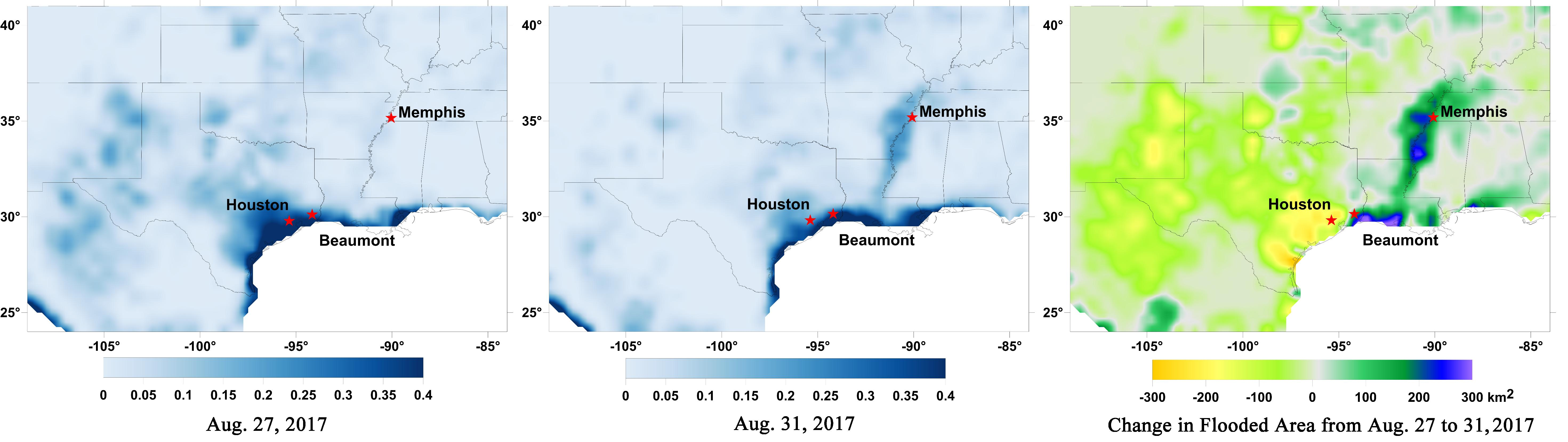 New NASA Maps Show Flooding Changes In Aftermath of ...