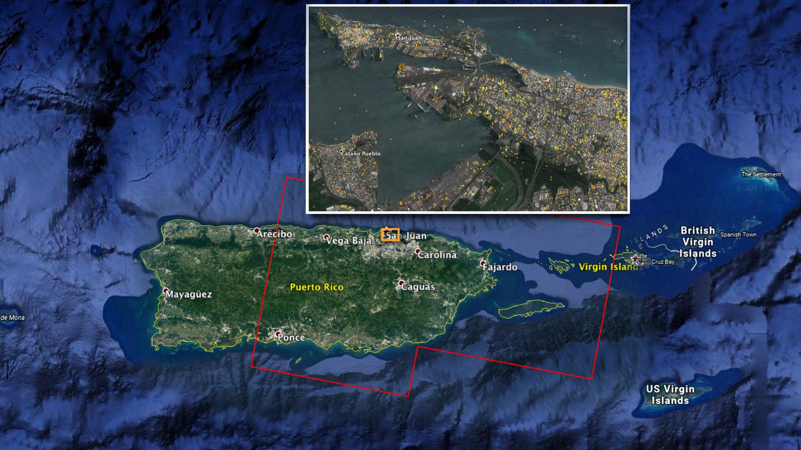 Nasa Damage Map Aids Puerto Rico Hurricane Response Nasa