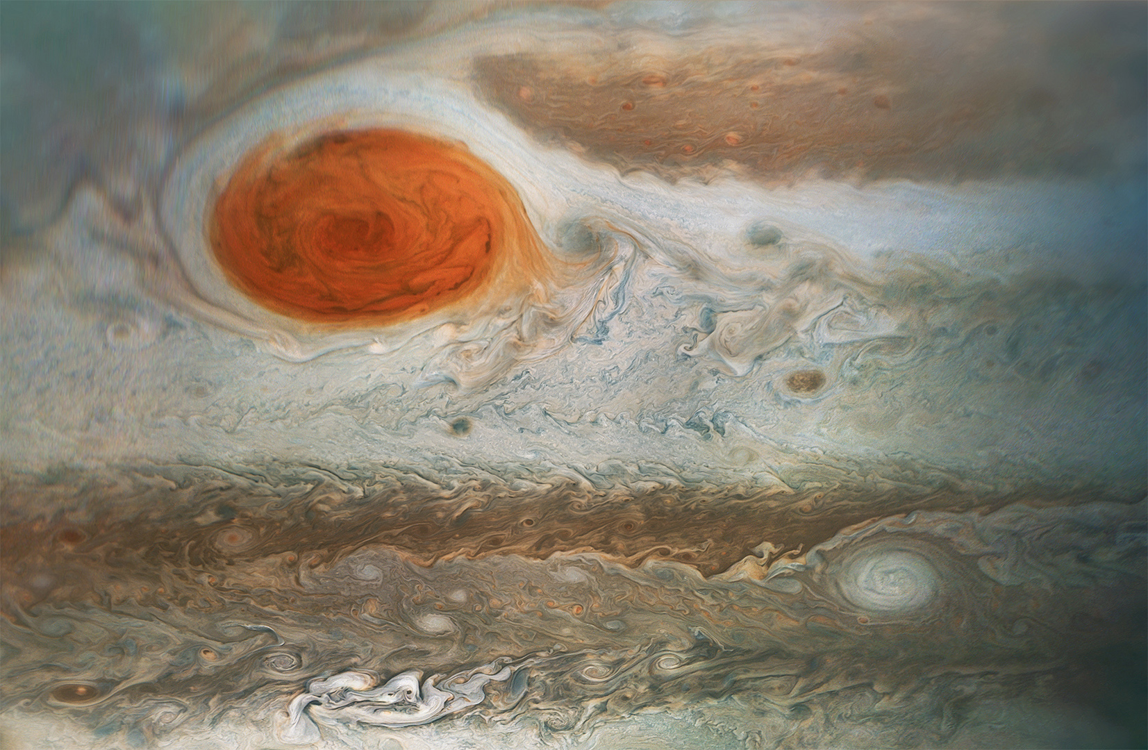 Jupiter's Great Red Spot, Spotted Pia21985