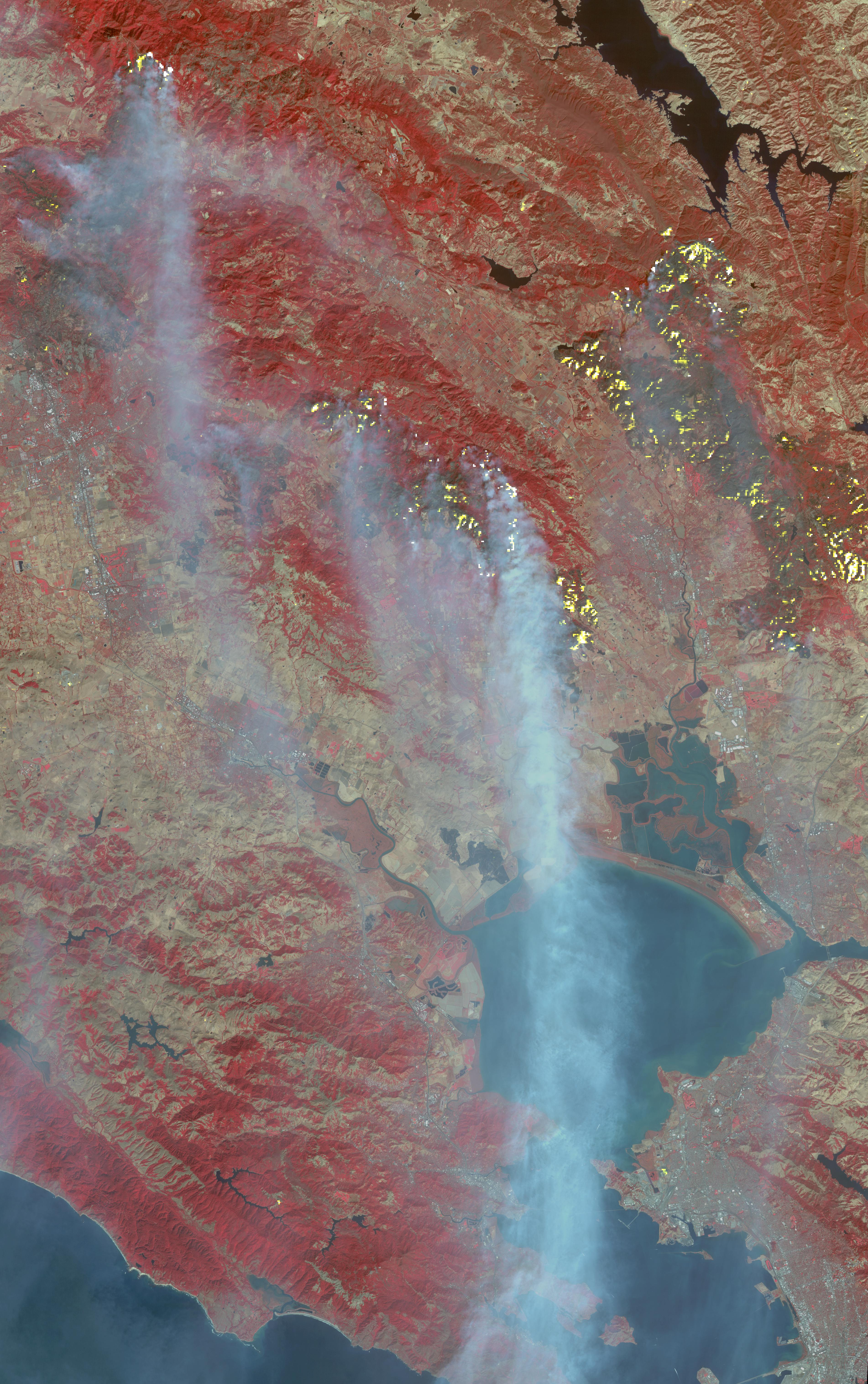destructive northern california fires | nasa