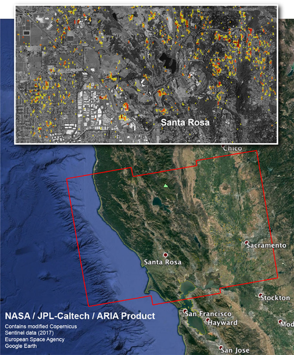 nasa damage map aids california wildfire response | nasa