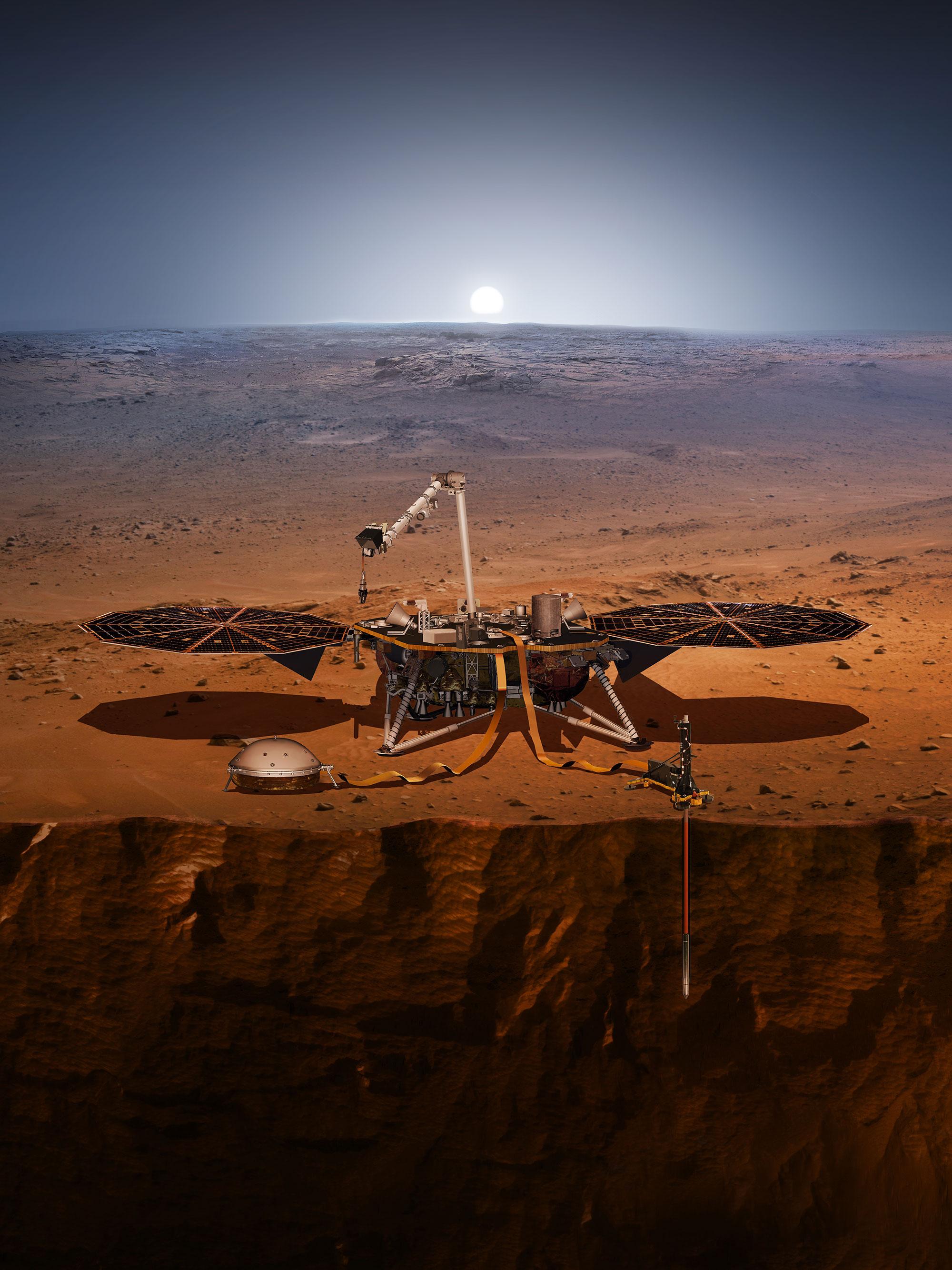 Sonda InSight začala s vrtáním pod povrch Marsu, brzy se však zasekla