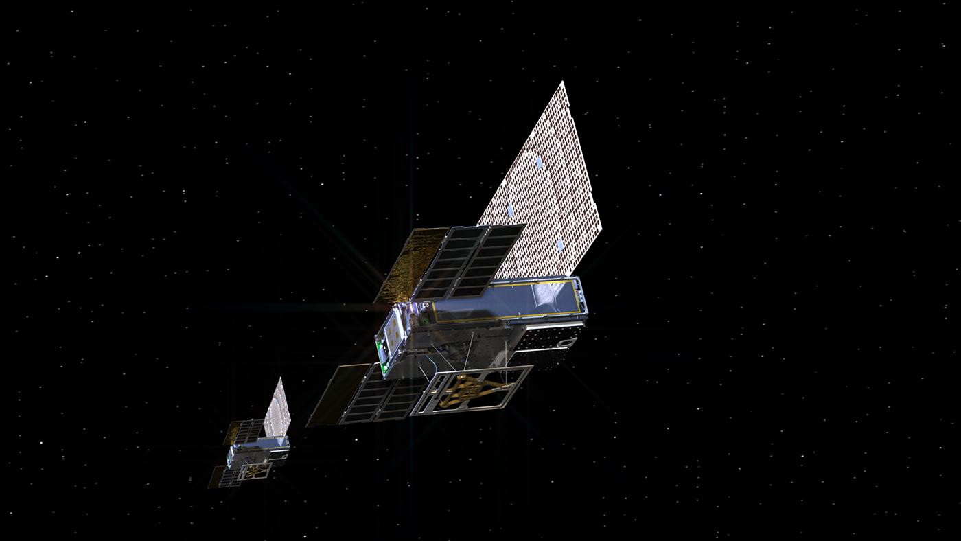 Drobné komunikační družice MarCO, které doprovázejí sondu InSight k Marsu, navázaly spojení se Zemí