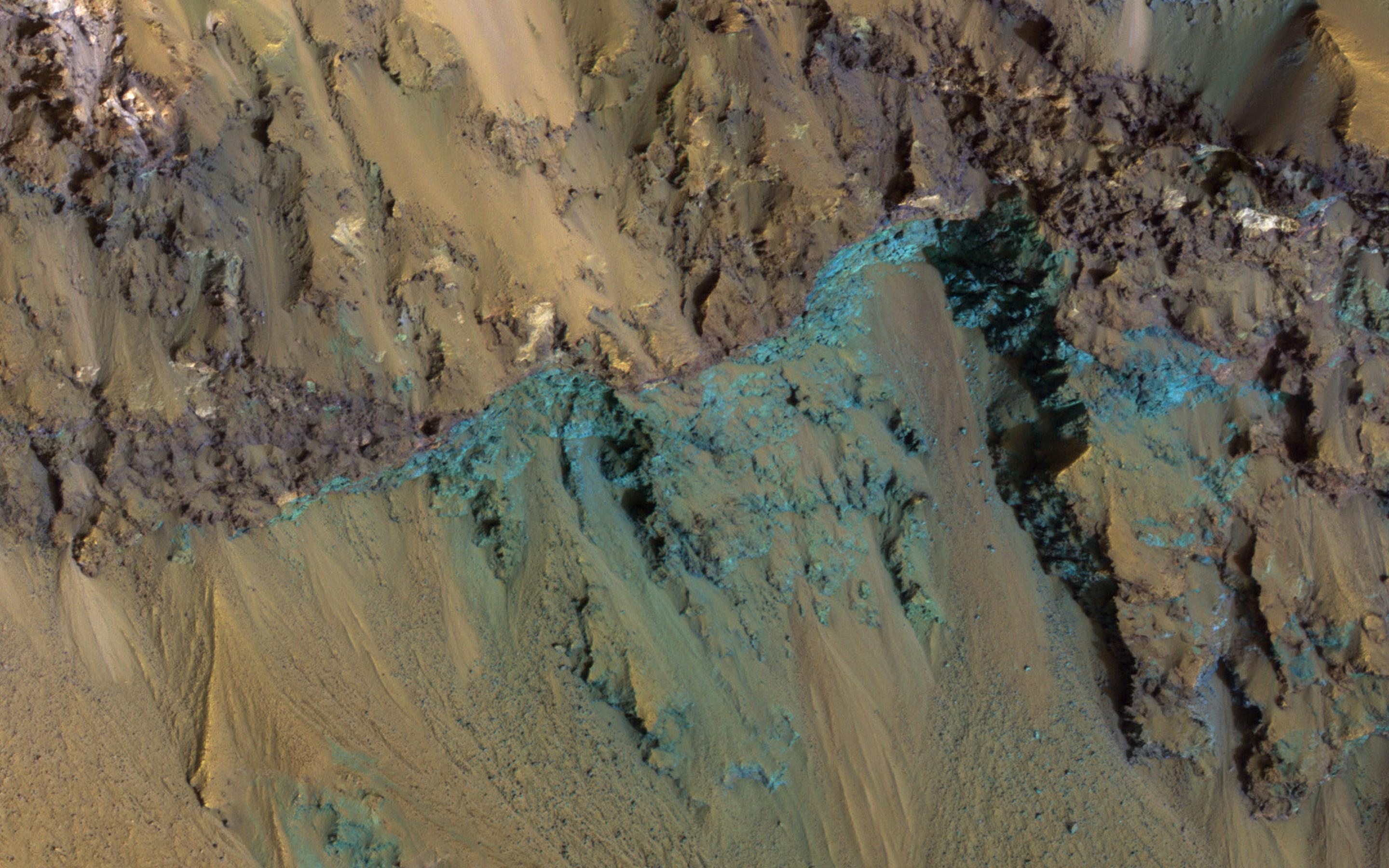 Exposed Bedrock on the Red Planet's Hale Crater