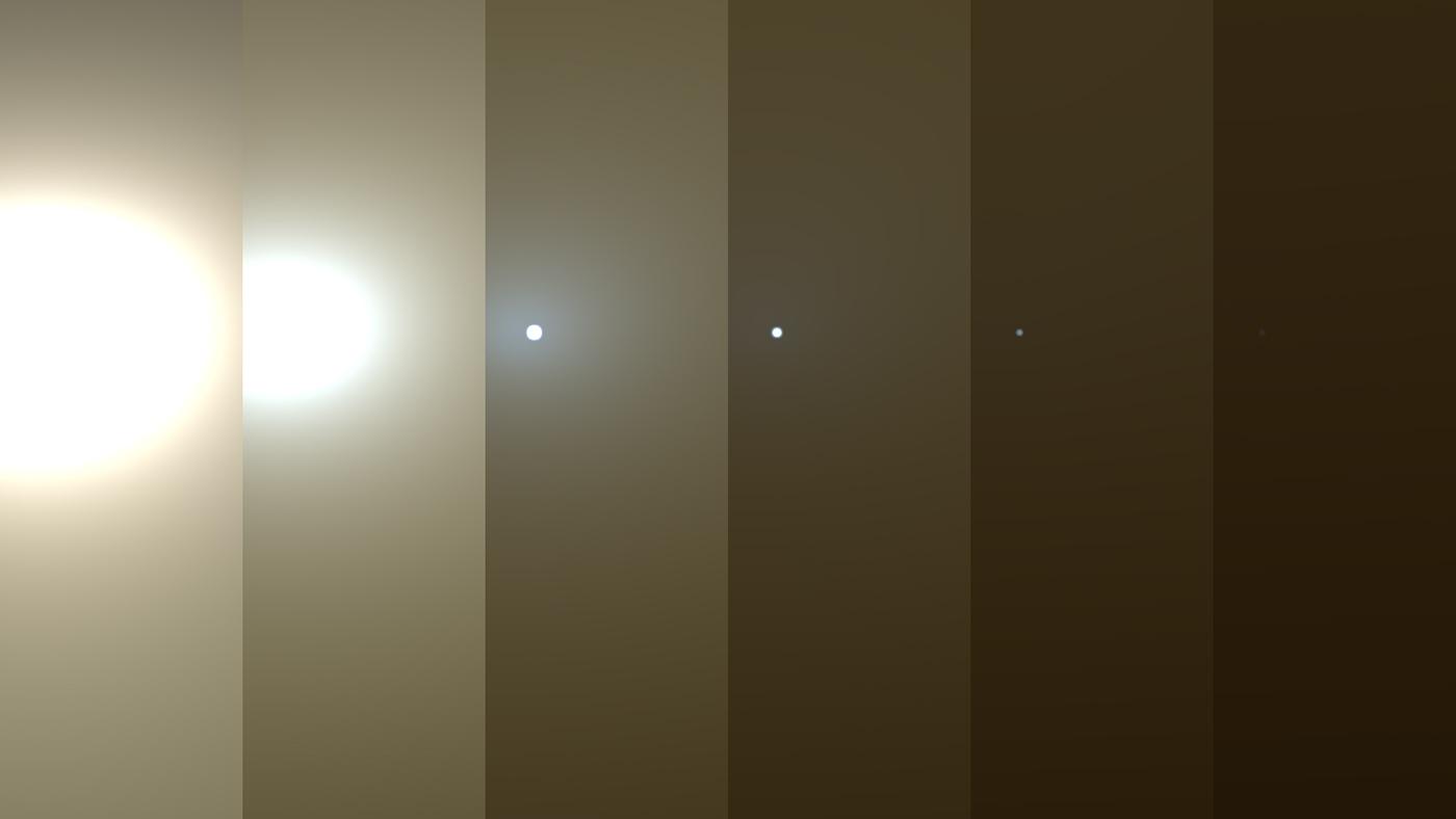 Mars, písečná bouře
