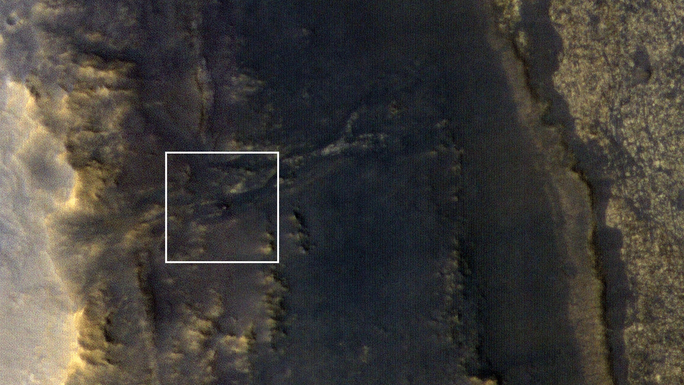 Opportunity Emerges in a Dusty Picture