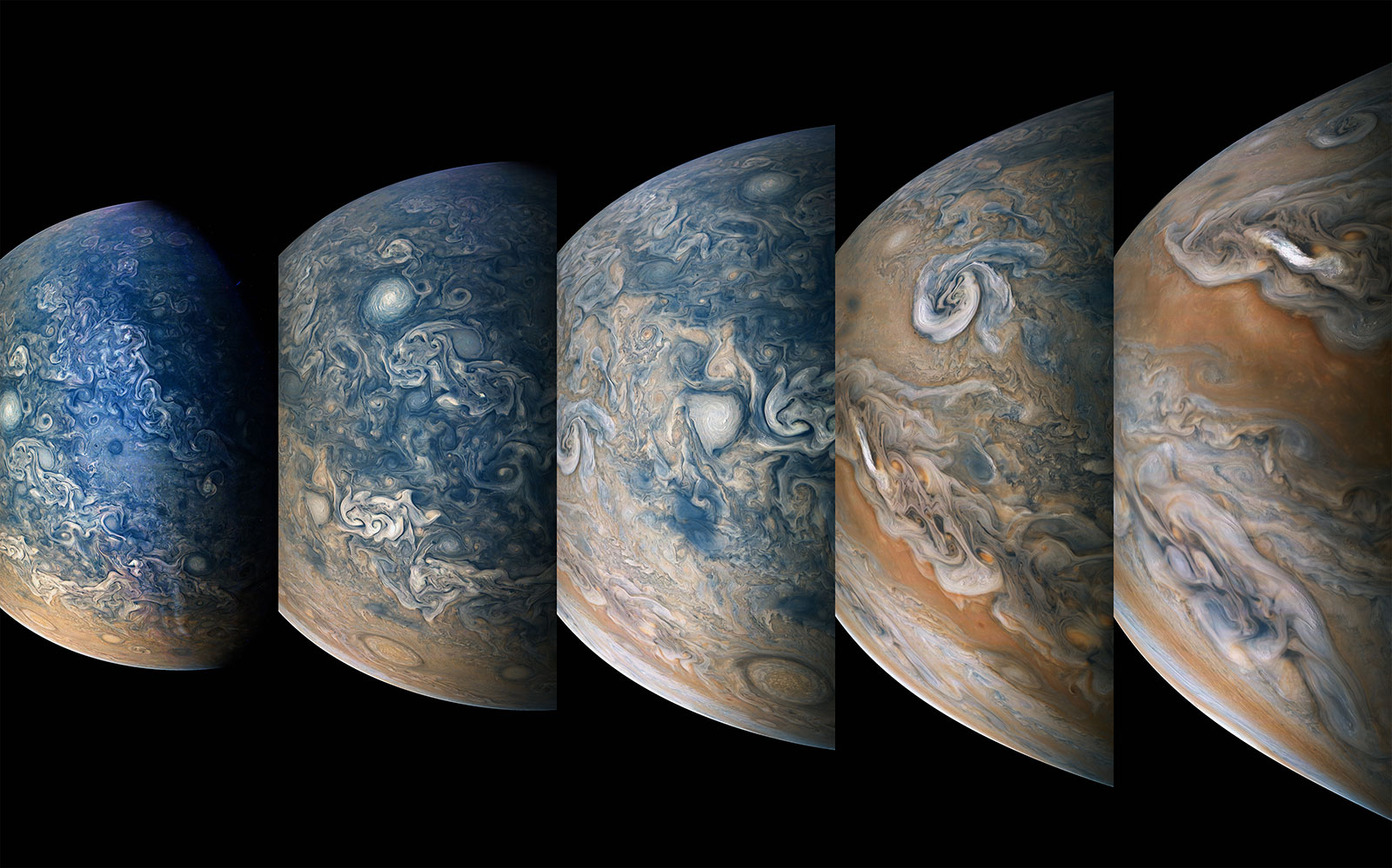 Time-lapse Sequence of Jupiter's North