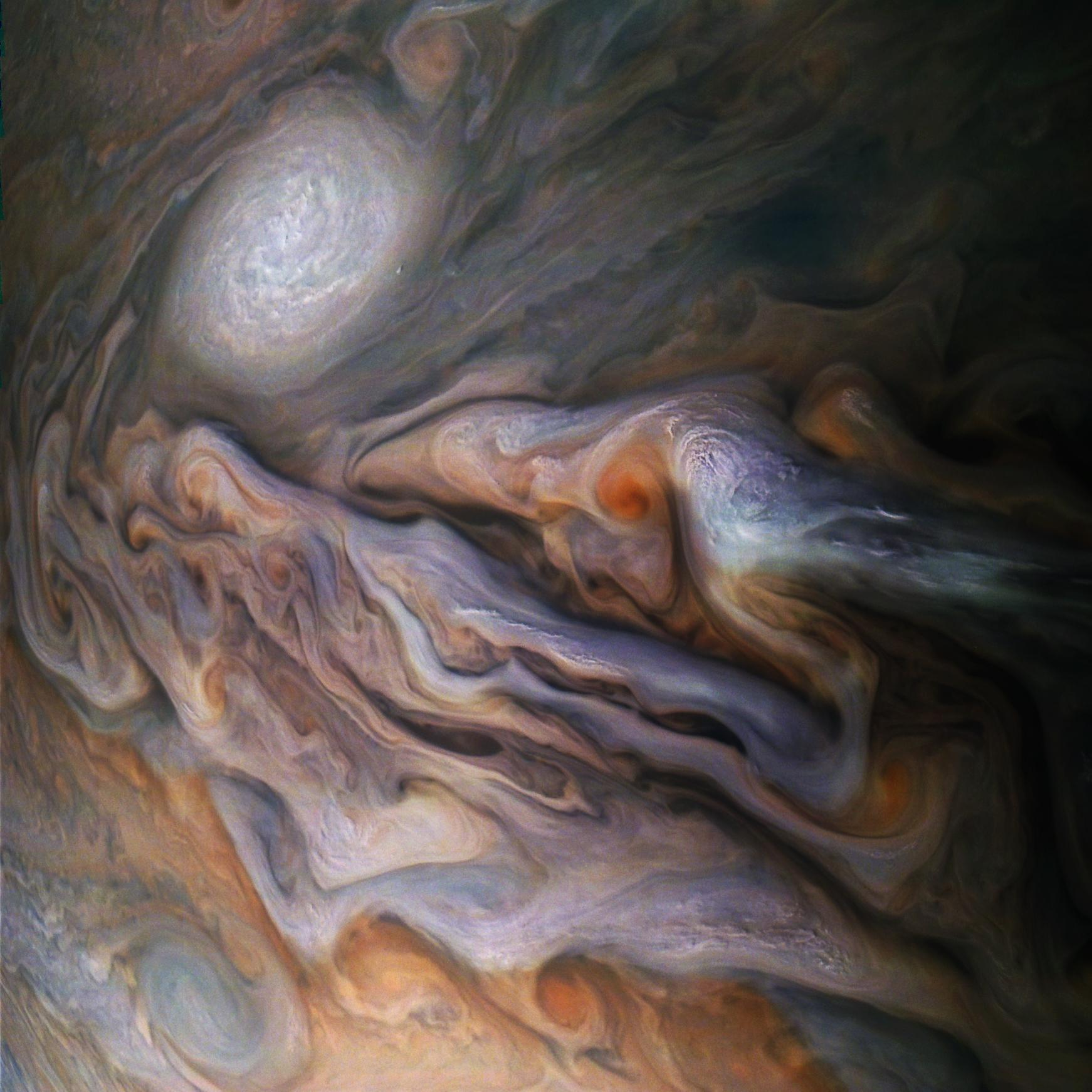 Jupiter's Magnificent Swirling Clouds