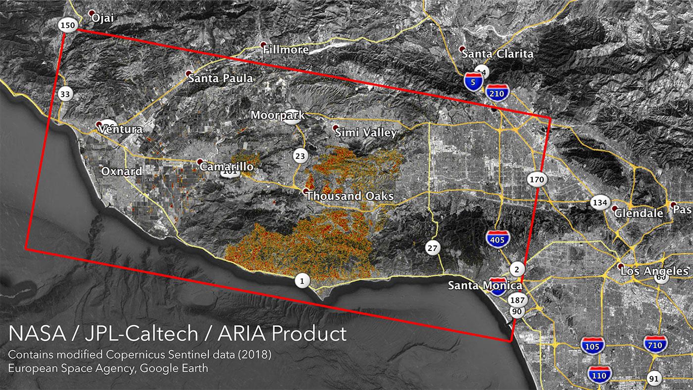 Nasa S Aria Maps California Wildfires From Space Nasa