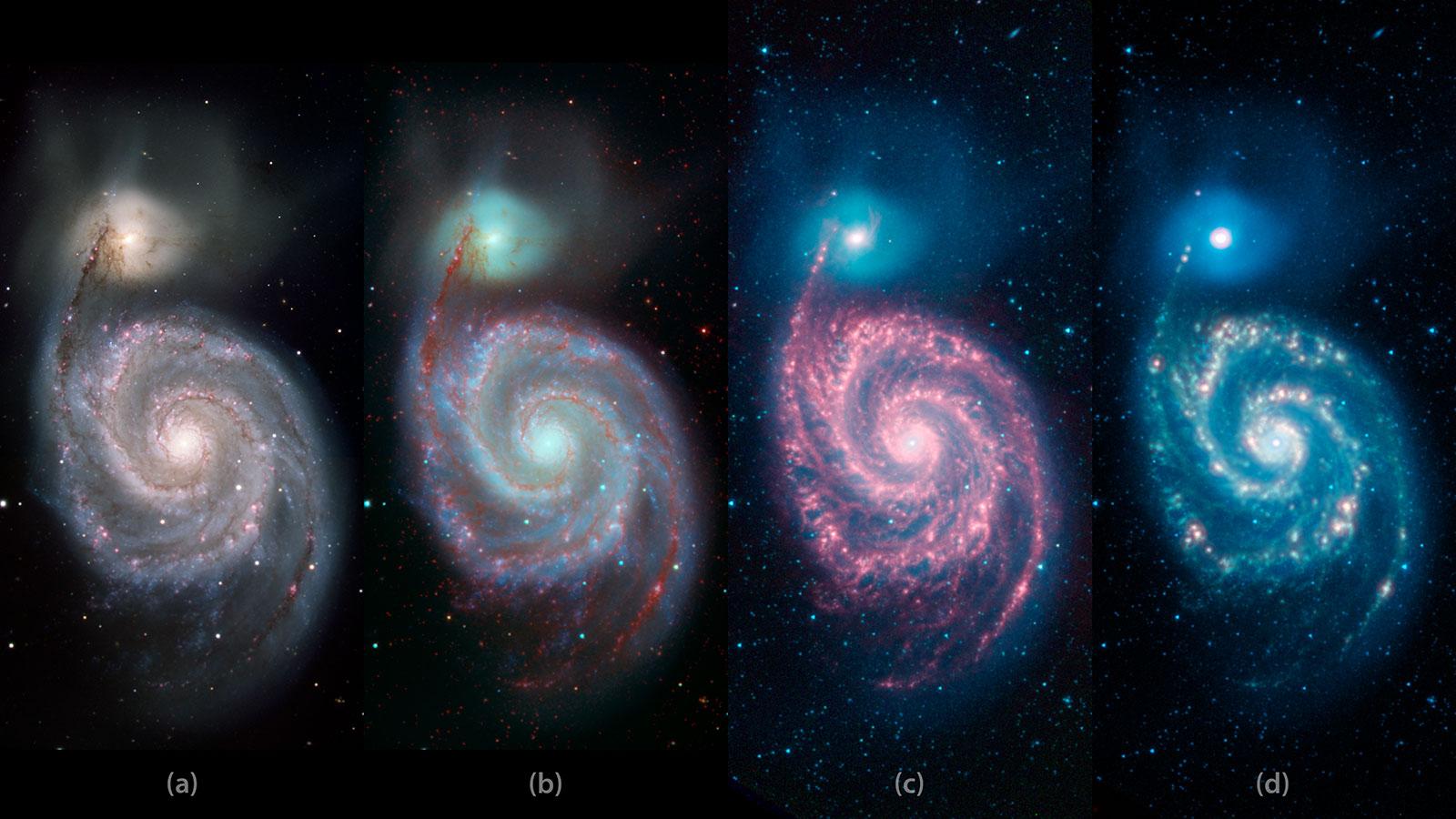 تصویر کهکشان گرداب به سبک اندی وارهول