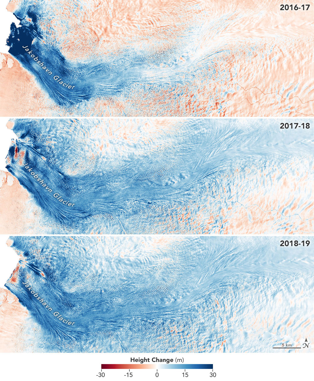 Image: Jakobshavn Glacier Grows for Third Straight Year
