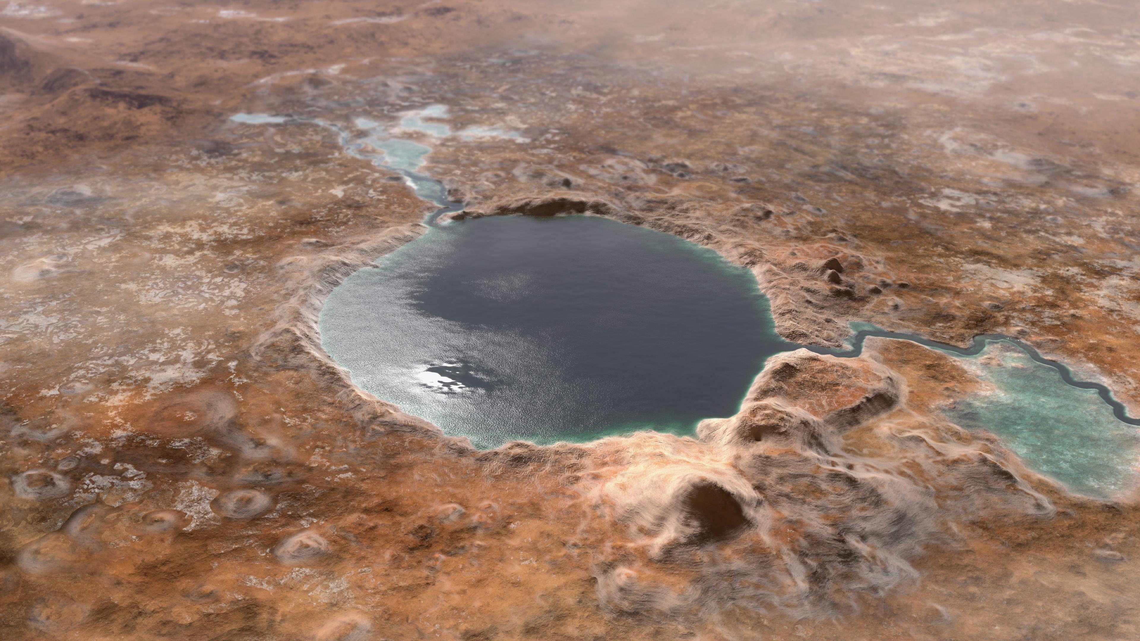 Jezero Crater Was a Lake in Mars' Ancient Past