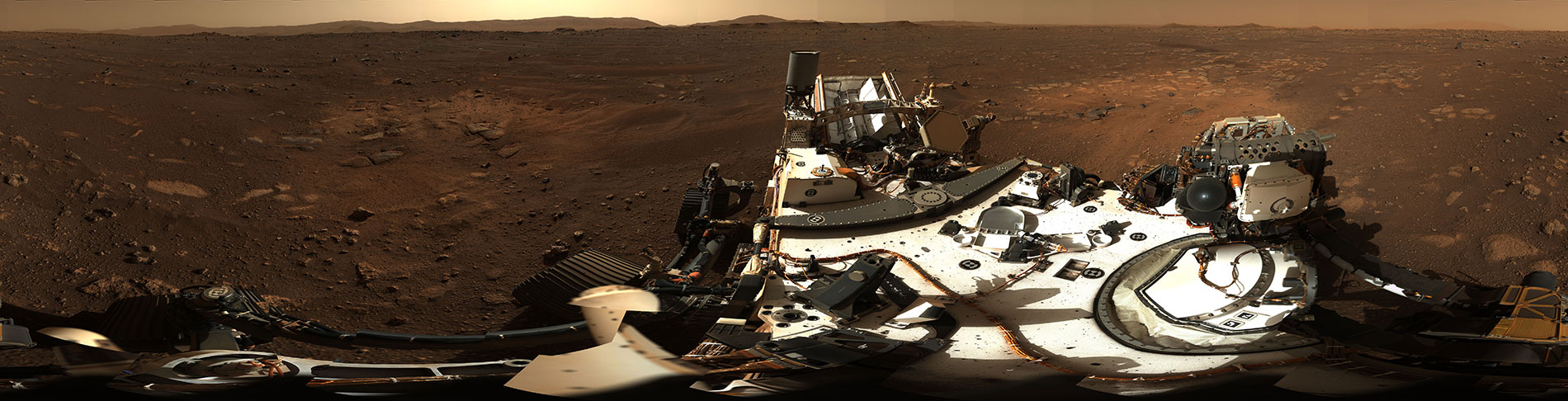 Perseverance Rover's High-Definition Panoramic View of Landing Site - NASA