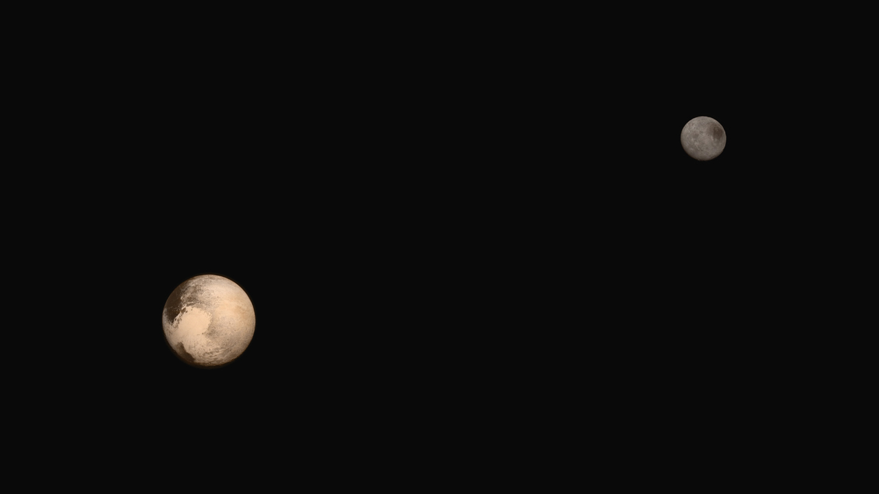 planet pluto flyby with Portrait Of Pluto And Charon on Plutos Moons Wrestle With Chaos as well Charons Organa Crater Glows With The Force Er Ammonia additionally New Horizons This Week further These New Pictures Of Pluto Are Almost Impossibly Awesome in addition Nasa New Horizons Pluto Mission Finds Ice Peaks Massive Canyons 1.