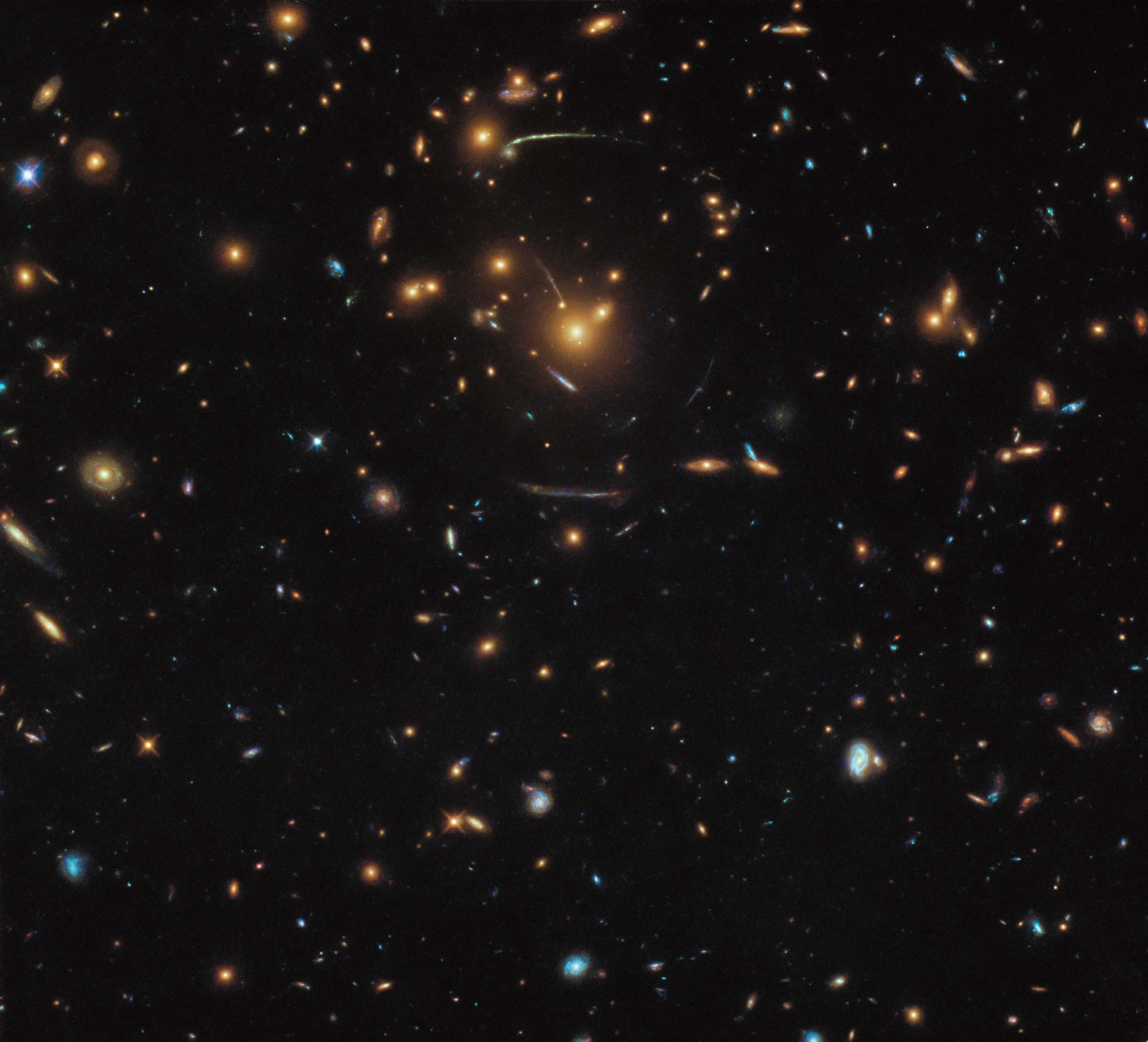 hubble s warped view of the universe nasa
