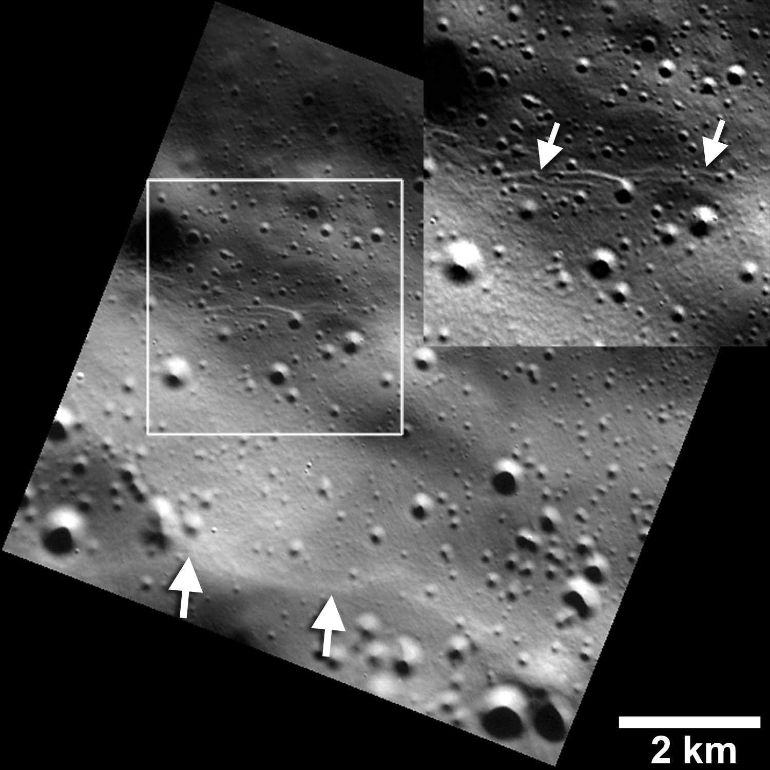 Small Graben Or Narrow Linear Troughs Have Been Found Ociated With Scarps On