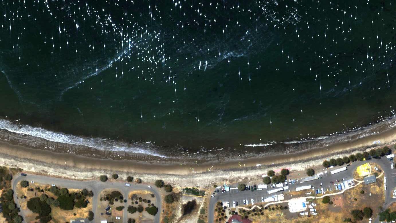 NASA Maps Beach Tar From California Oil Pipeline Spill NASA - Map of us pipeline spills sites