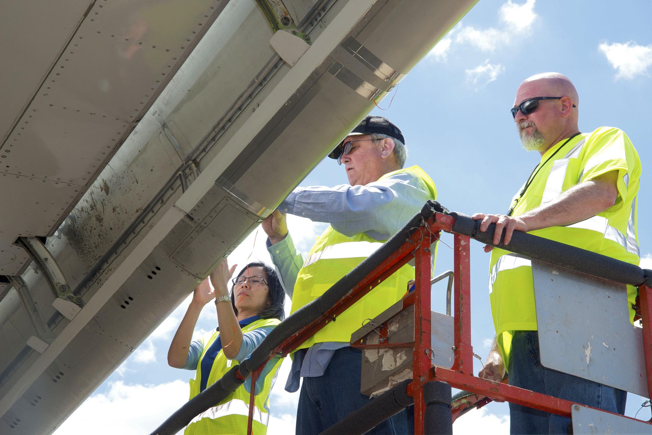 invites media to emergency locator transmitters crash test nasa