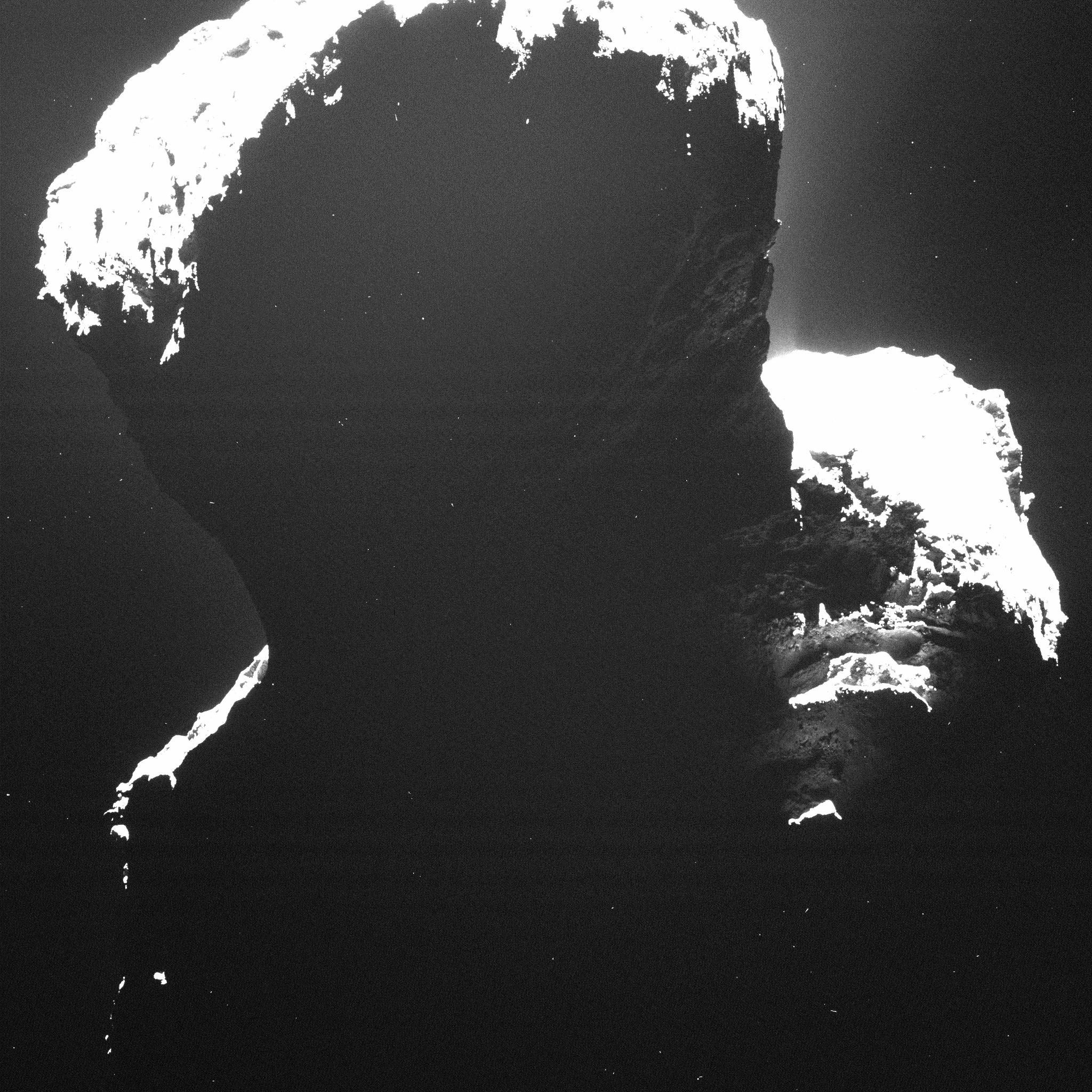 Rosetta's First Peek at the Comet's Dark Side | NASA
