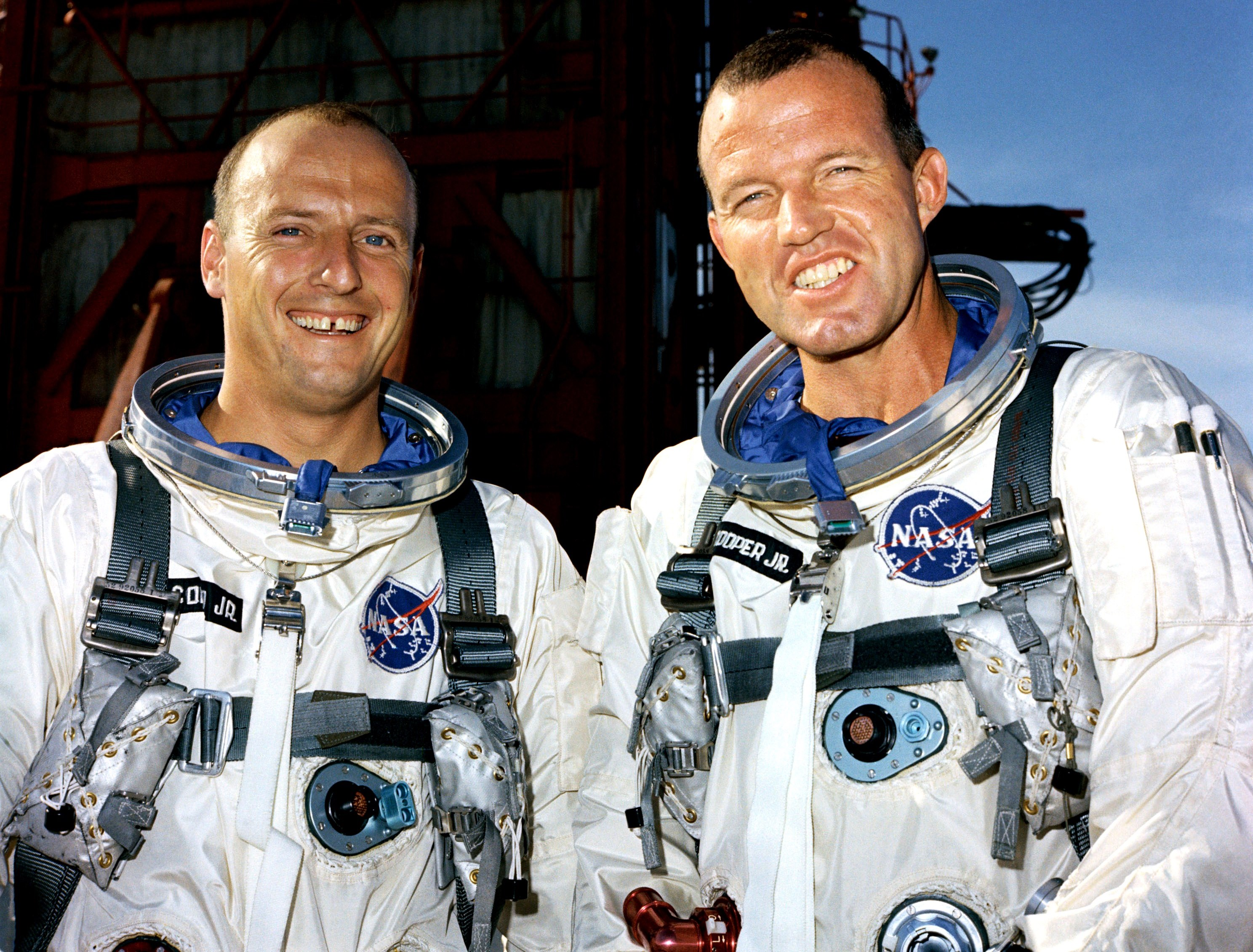 "Image result for Astronauts L. Gordon Cooper Jr. and Charles ""Pete"" Conrad Jr"